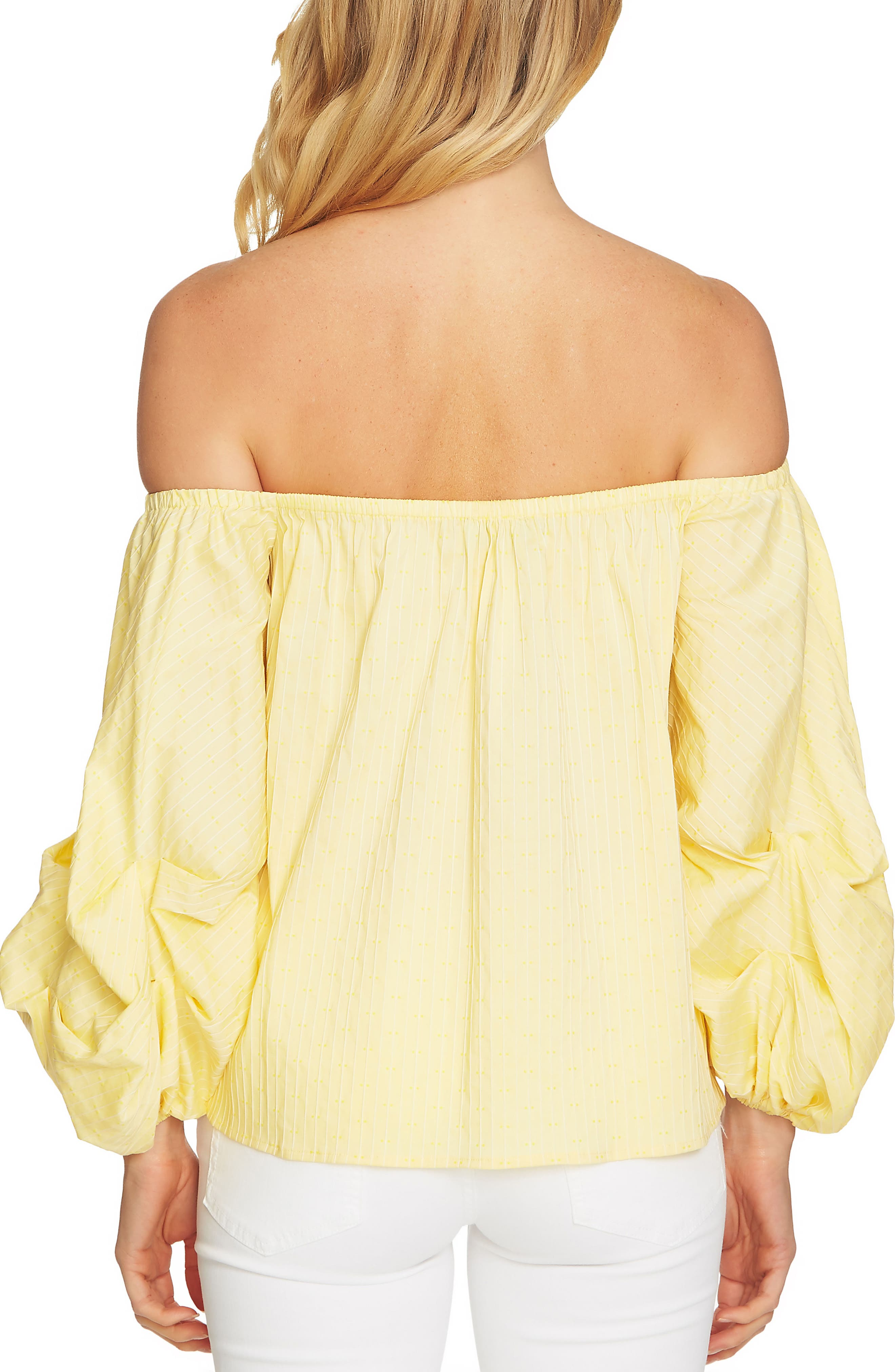 Off the Shoulder Balloon Sleeve Top,                             Alternate thumbnail 5, color,