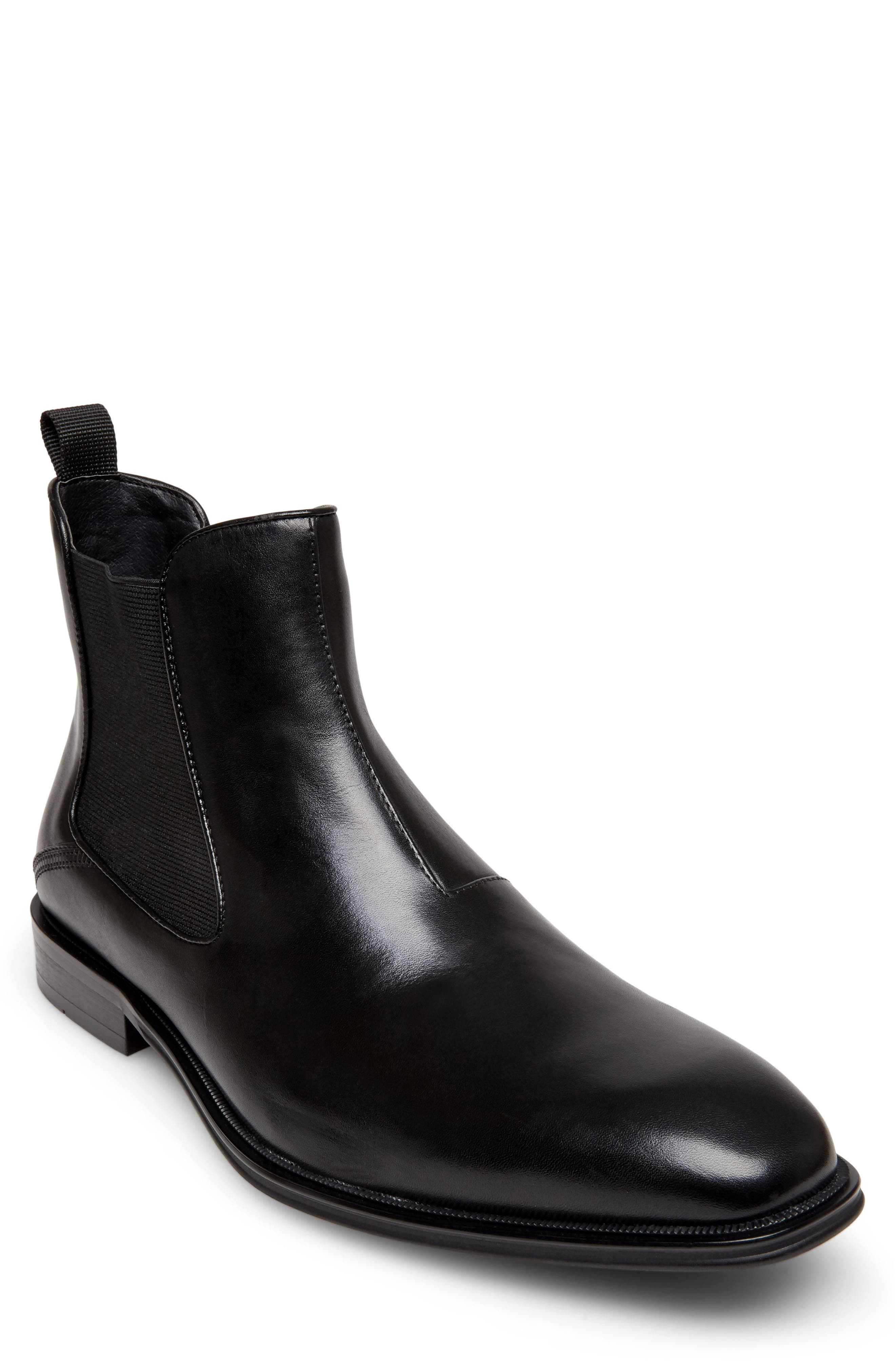 STEVE MADDEN Malice Chelsea Boot, Main, color, BLACK LEATHER
