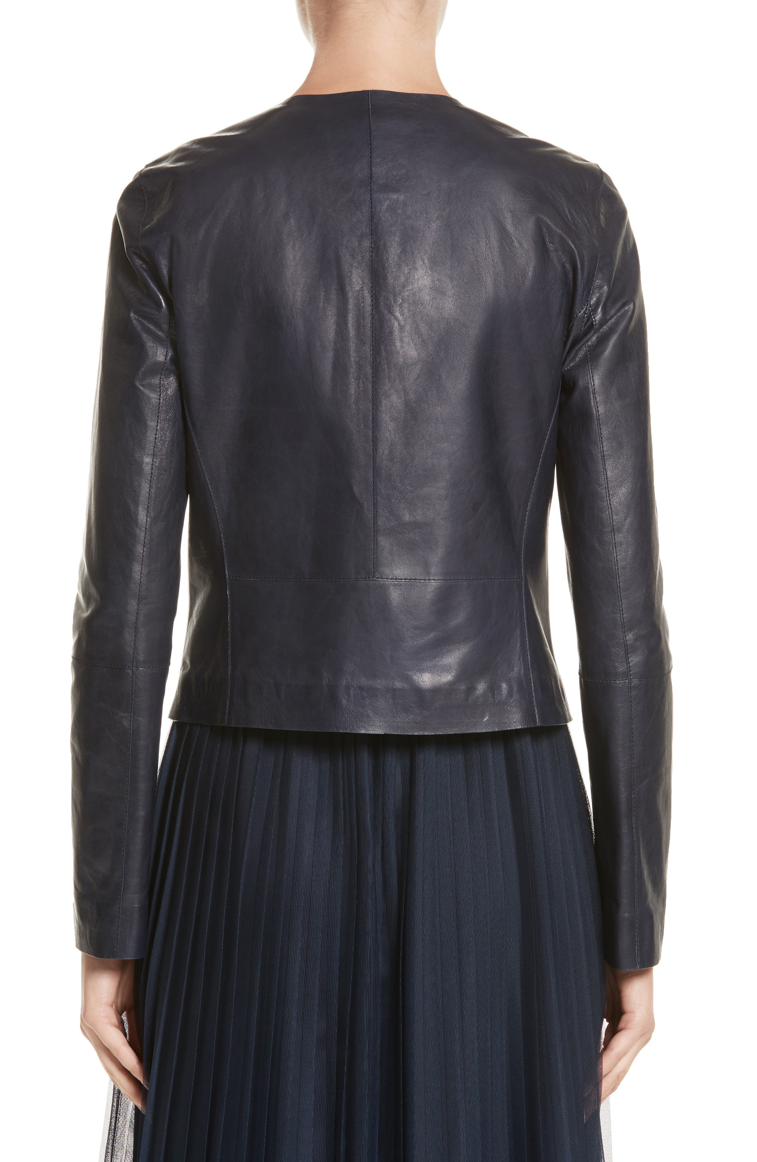 Clyde Lambskin Leather Jacket,                             Alternate thumbnail 2, color,                             479