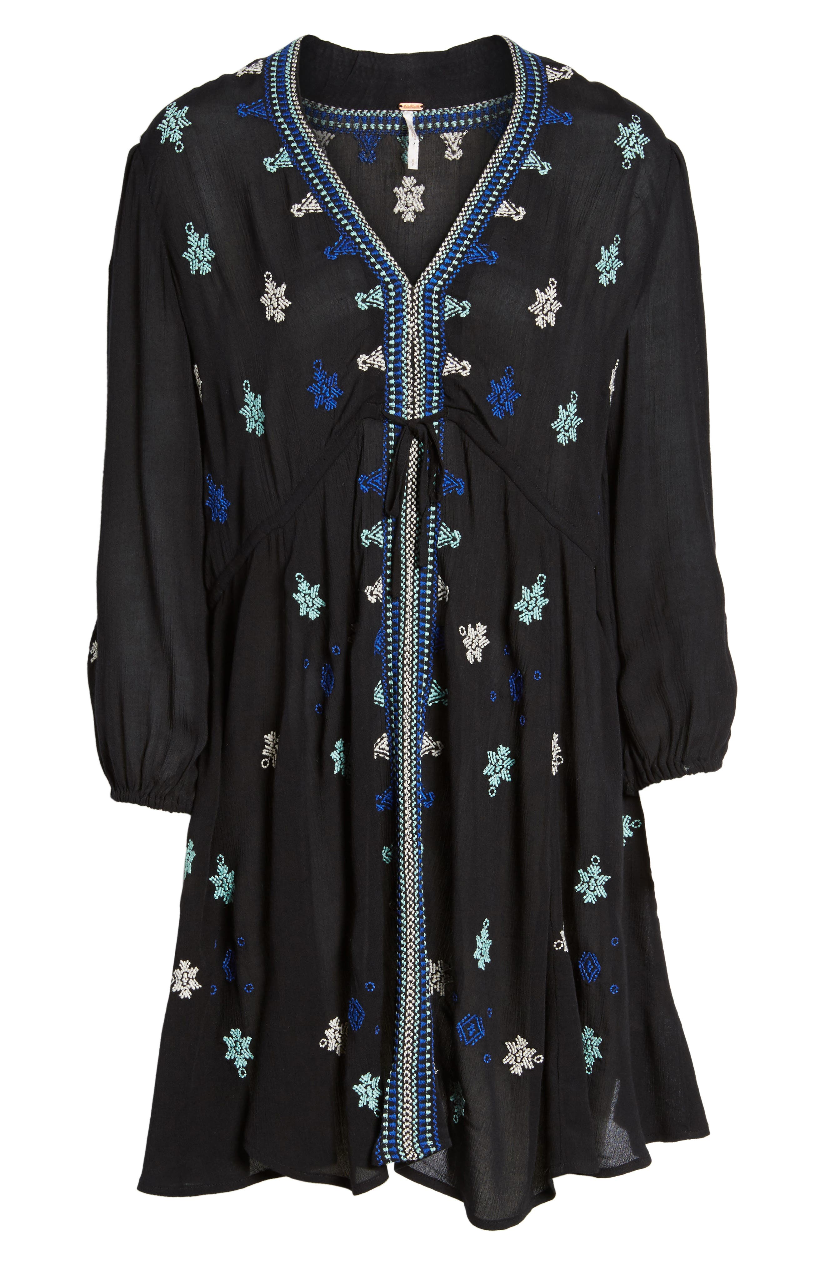 'Star Gazer' Embroidered Tunic Dress,                             Alternate thumbnail 2, color,                             001