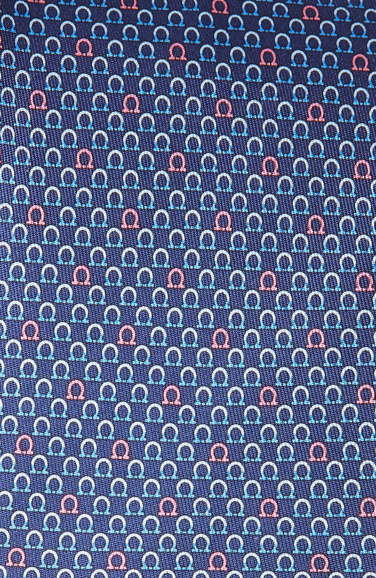 Geometric Print Silk Tie,                             Alternate thumbnail 6, color,