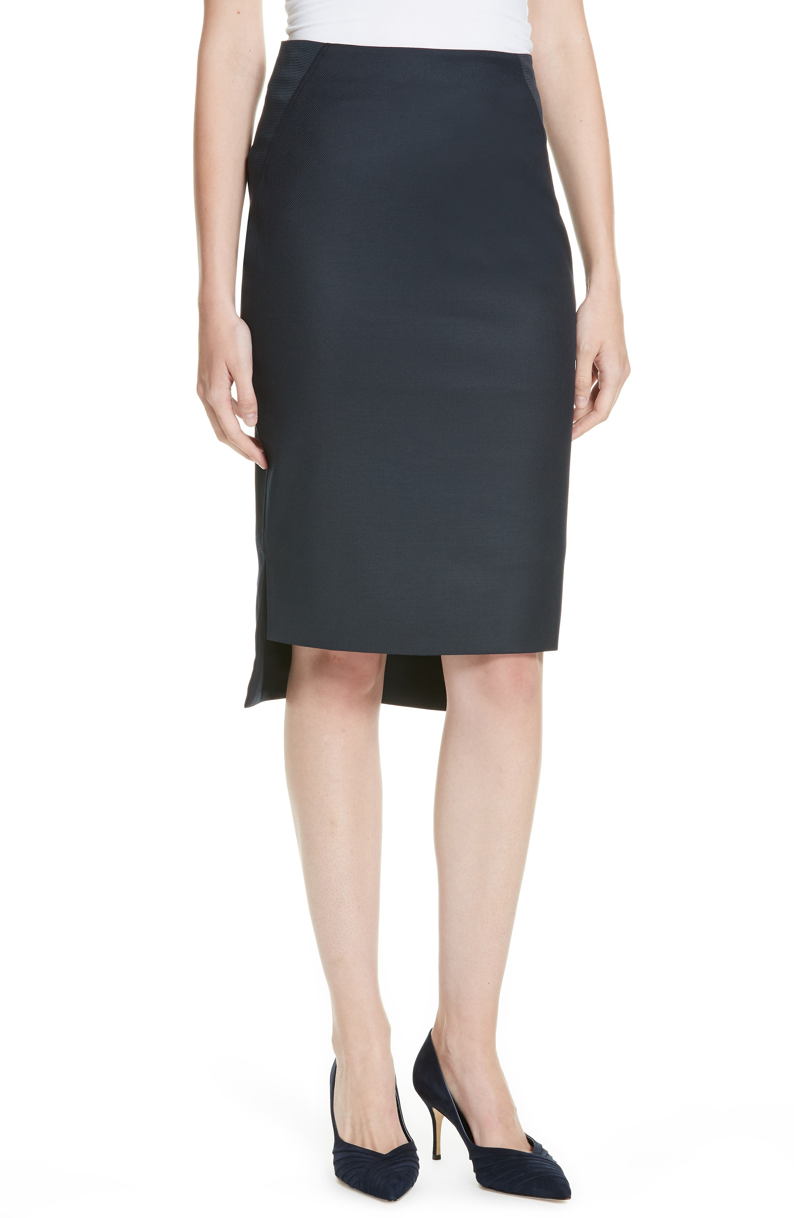 Ted Working Title Rivaas Pencil Skirt,                             Main thumbnail 1, color,                             DARK BLUE