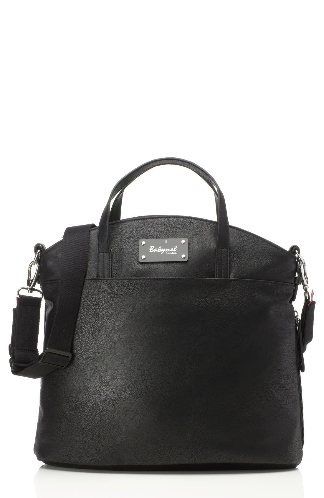 'Grace' Diaper Bag,                         Main,                         color, BLACK