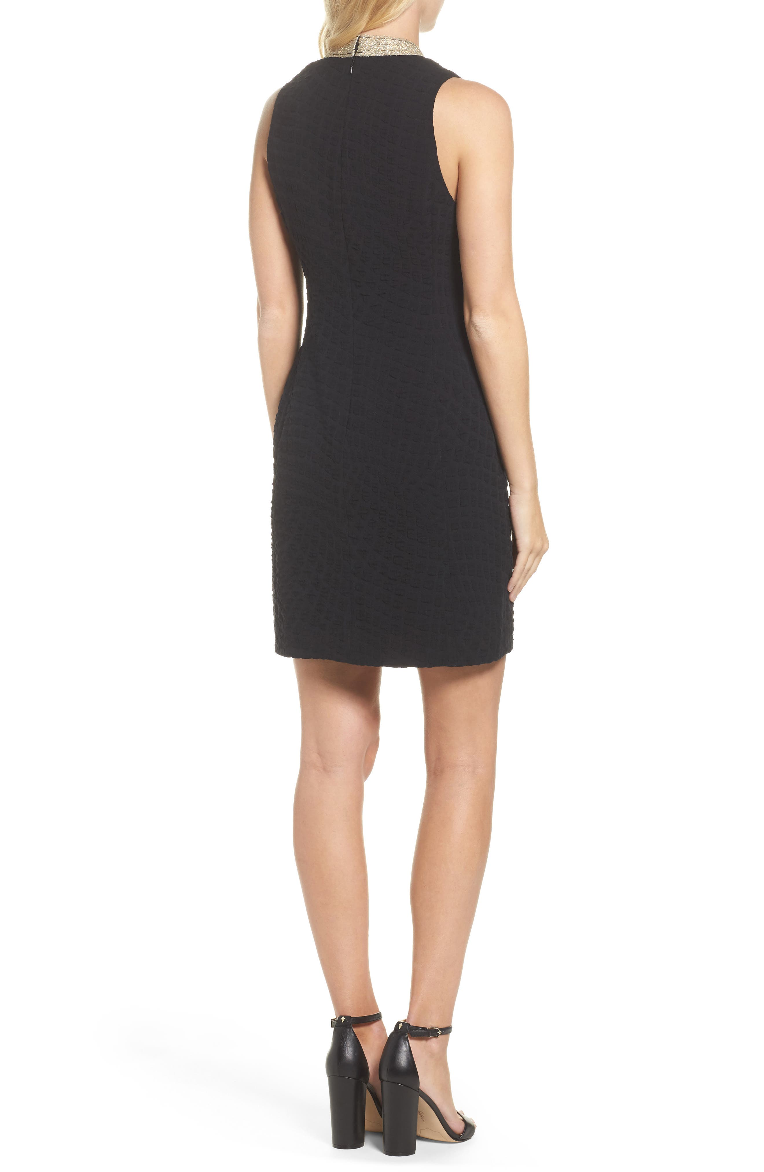 Alexa Sheath Dress,                             Alternate thumbnail 2, color,                             ONYX