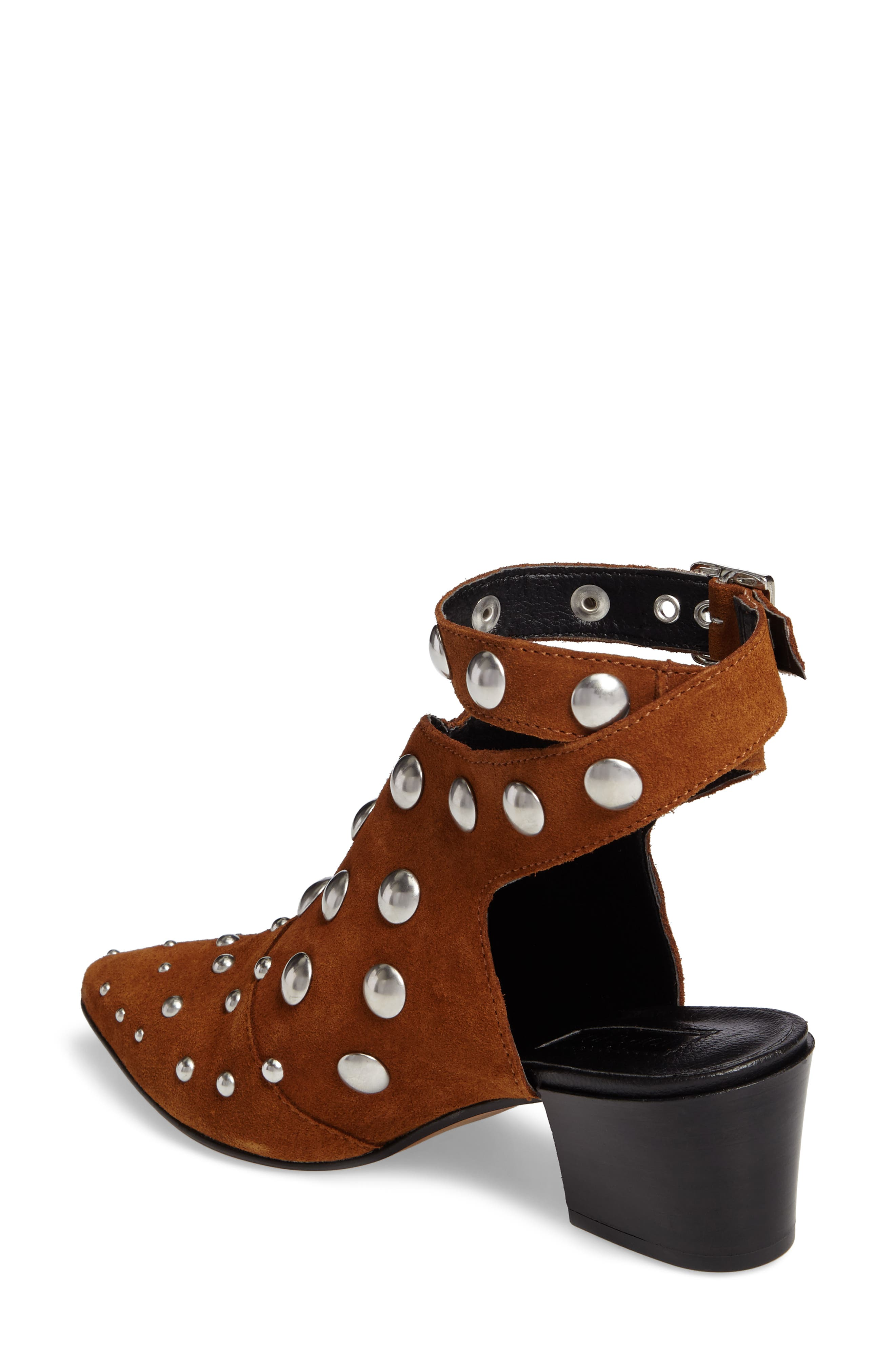 Madness Studded Wraparound Bootie,                             Alternate thumbnail 4, color,