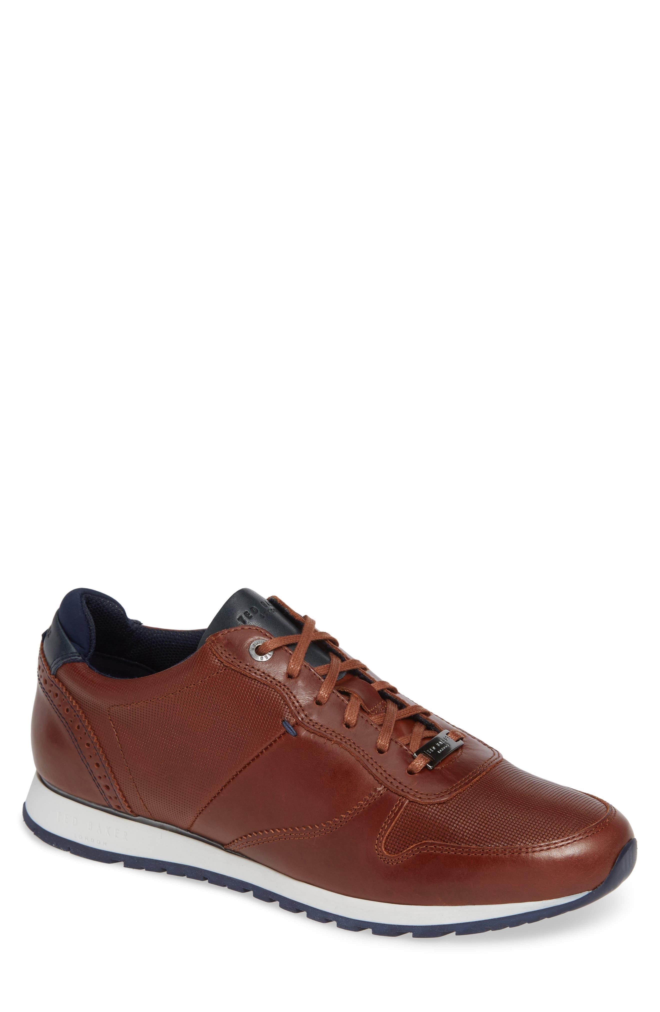 Shindl Sneaker,                         Main,                         color, DARK TAN LEATHER