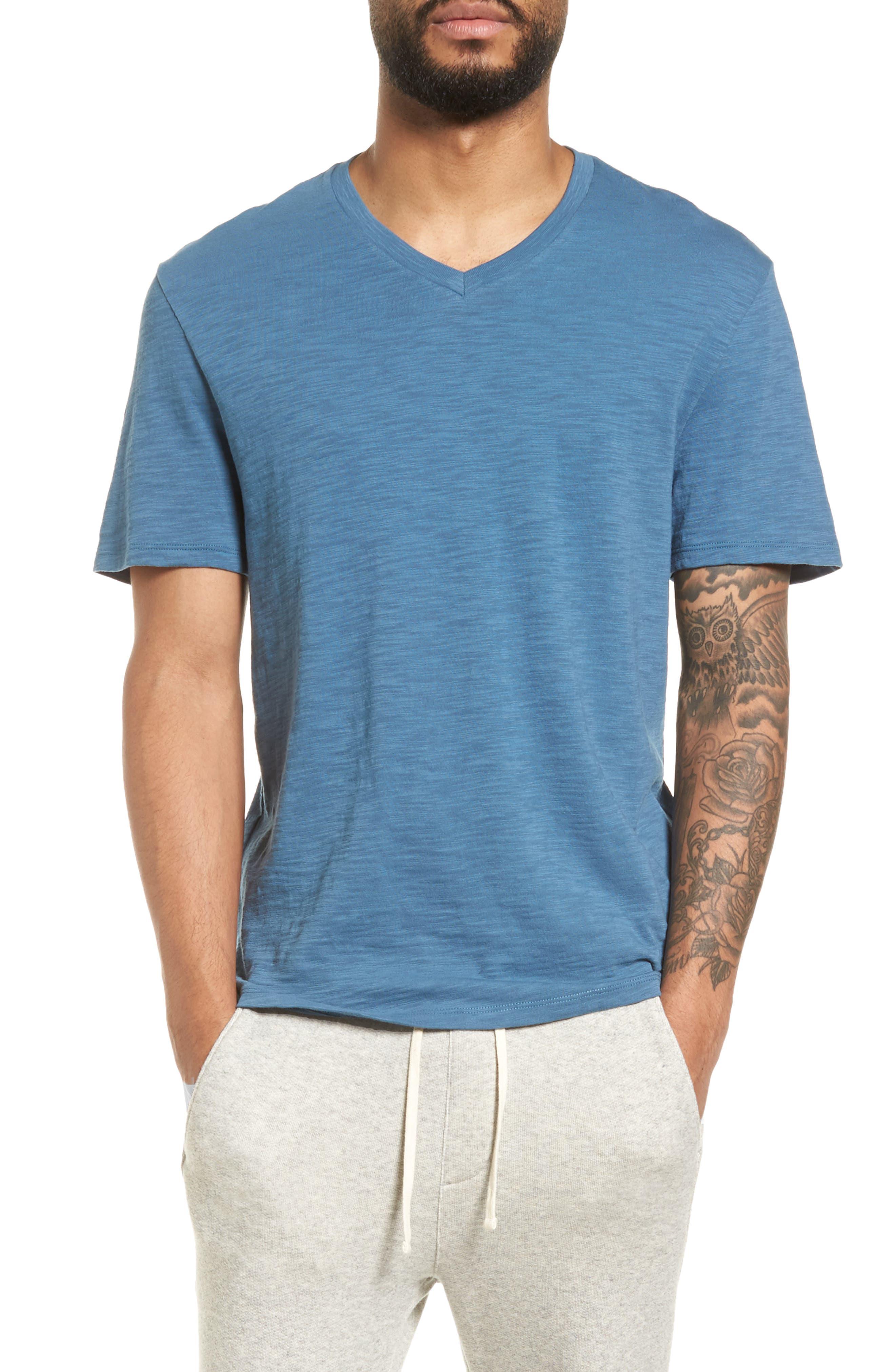 Slim Fit Slub V-Neck T-Shirt,                             Main thumbnail 1, color,