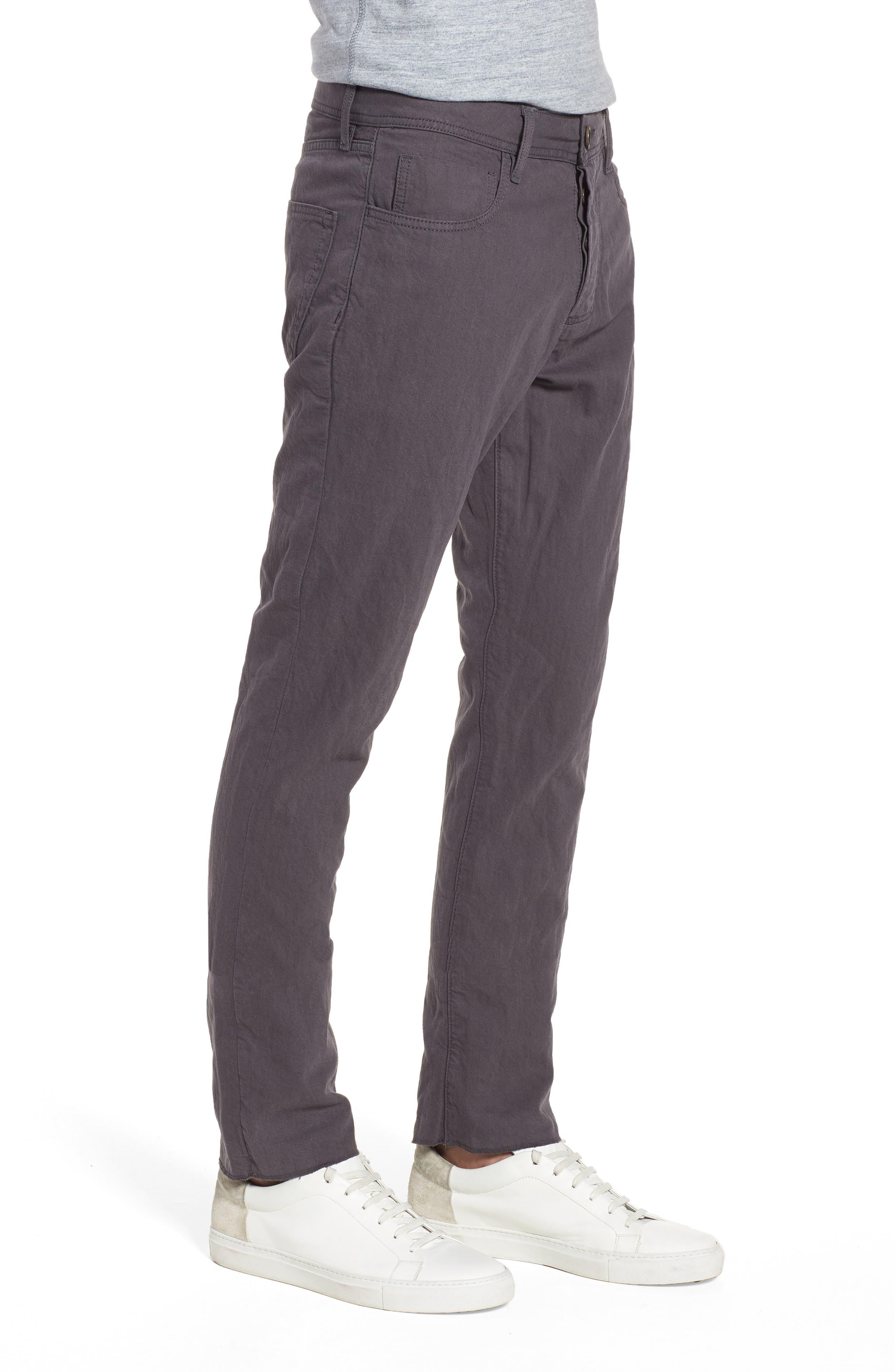 Slim Fit Twill Pants,                             Alternate thumbnail 3, color,                             037