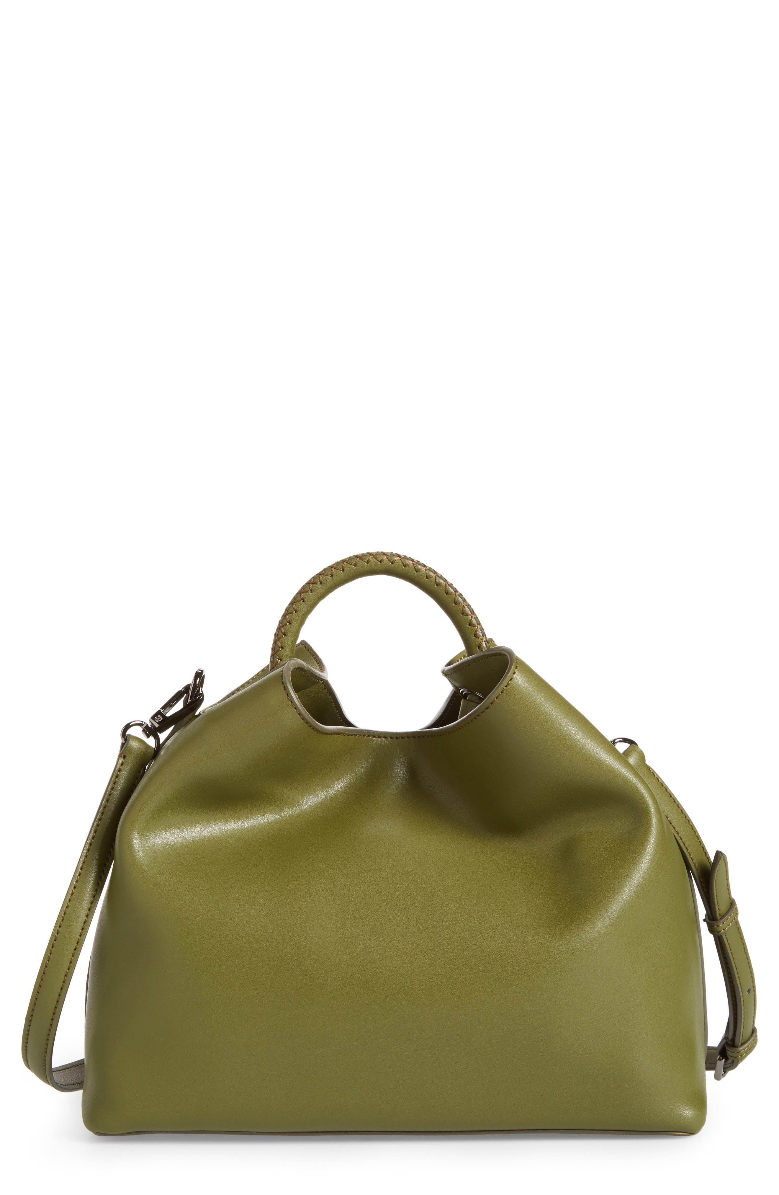 Raisin Leather Handbag,                             Main thumbnail 4, color,