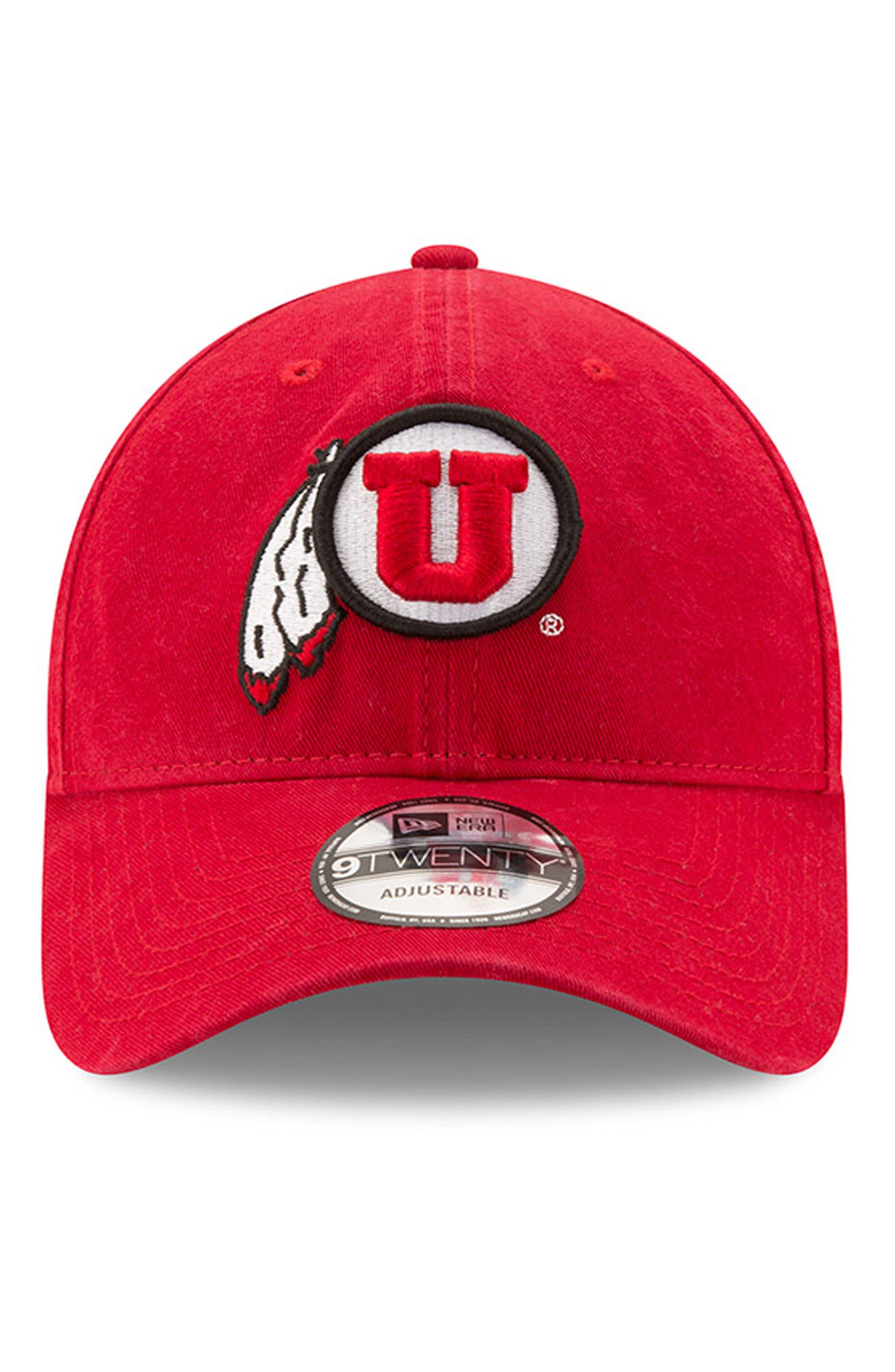 New Era Collegiate Core Classic - Utah Utes Baseball Cap,                             Alternate thumbnail 2, color,                             600