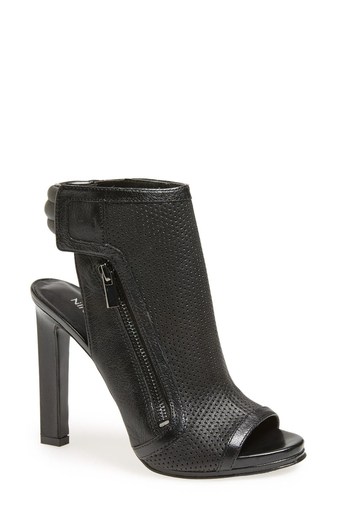 NINE WEST 'Tiptoe' Perforated Bootie, Main, color, 001
