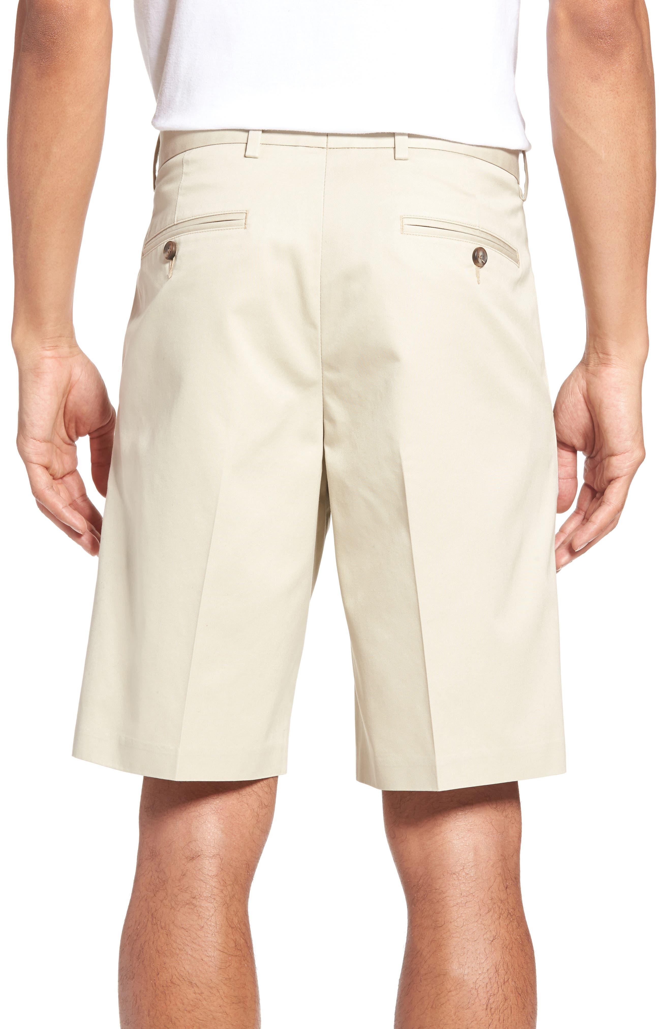 Pleated Supima<sup>®</sup> Cotton Shorts,                             Alternate thumbnail 9, color,