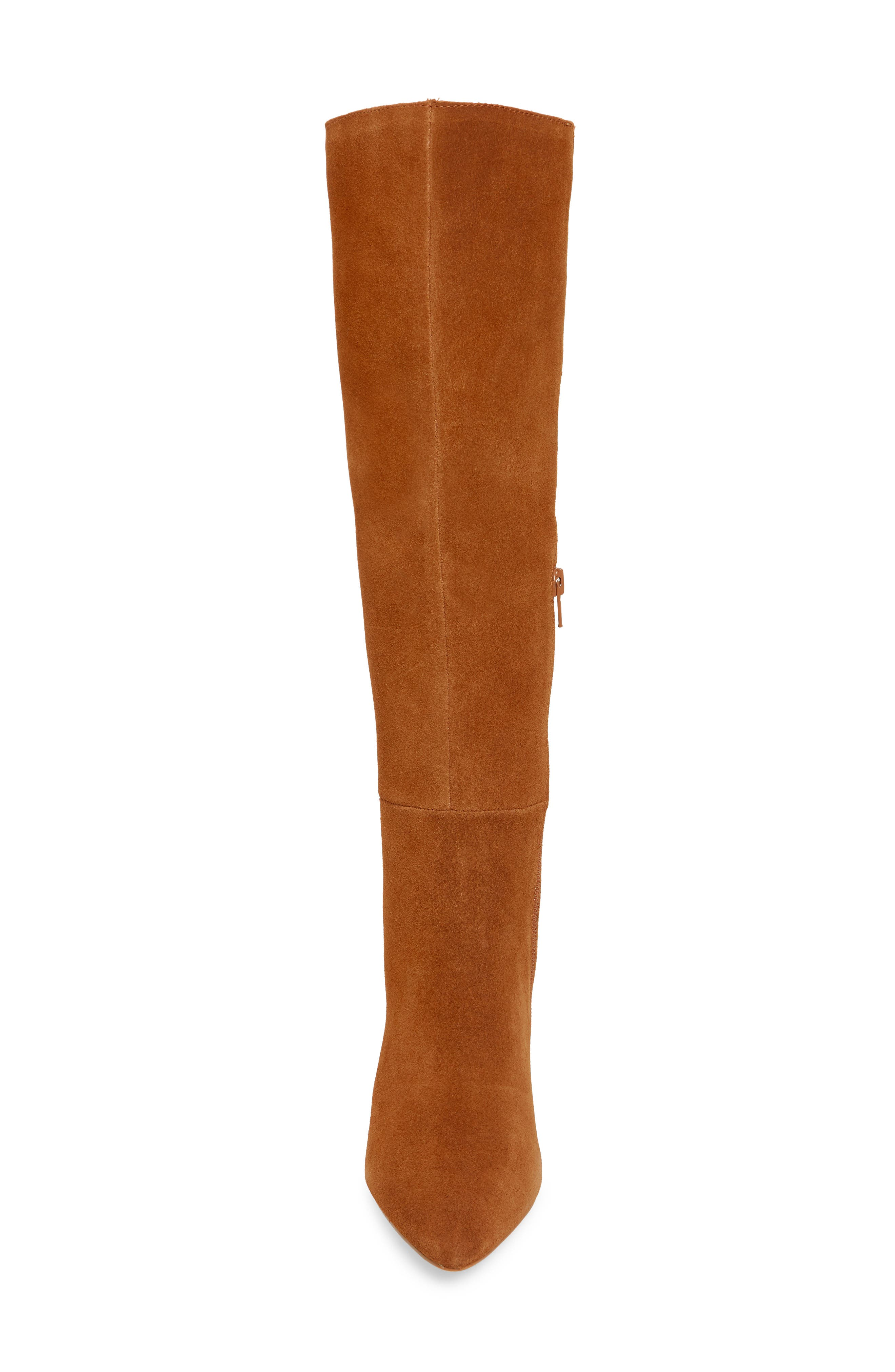 Serve Knee High Boot,                             Alternate thumbnail 4, color,                             CHESTNUT SUEDE