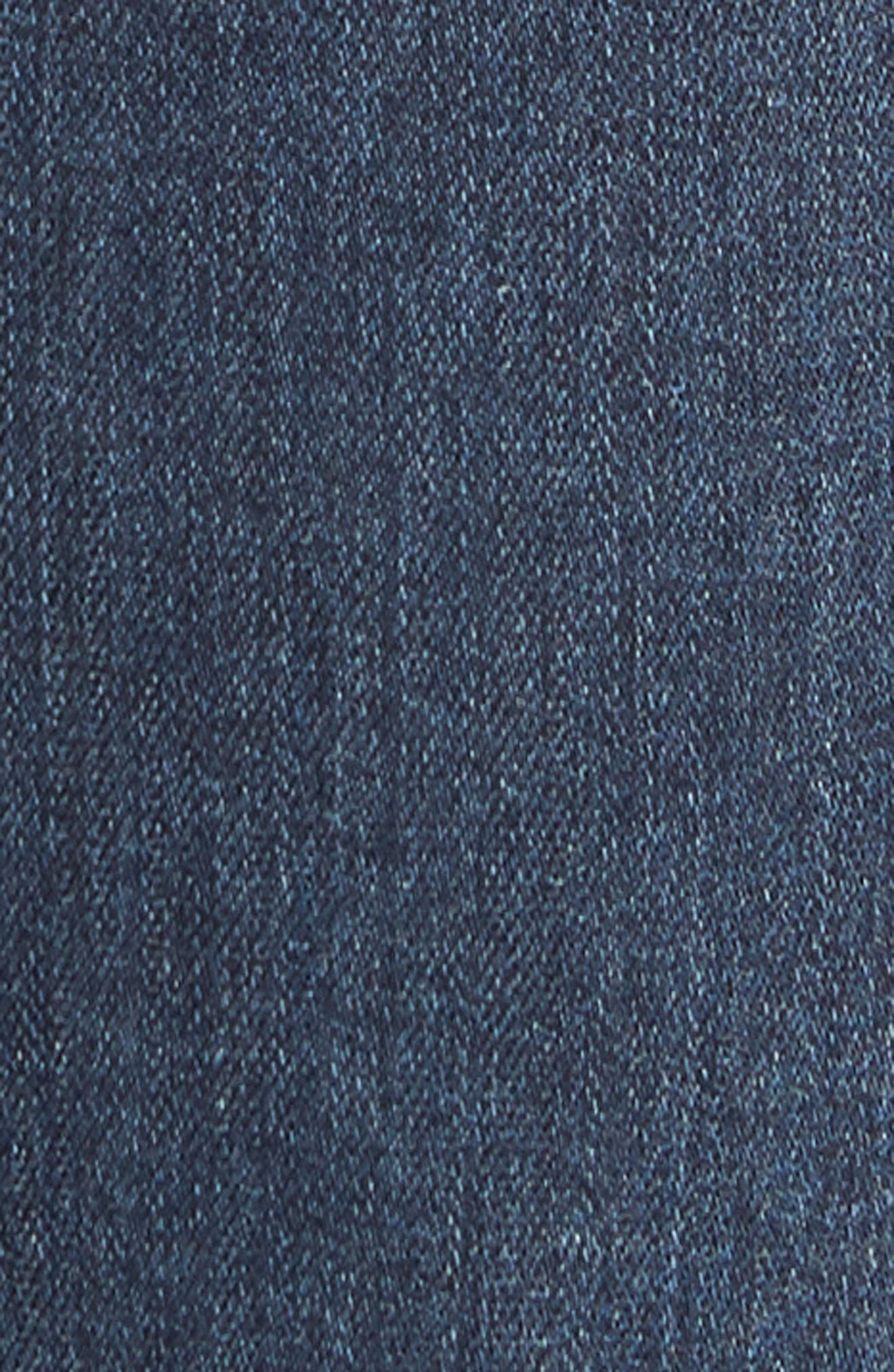Transcend - Croft Skinny Fit Jeans,                             Alternate thumbnail 5, color,                             GRAMMERCY