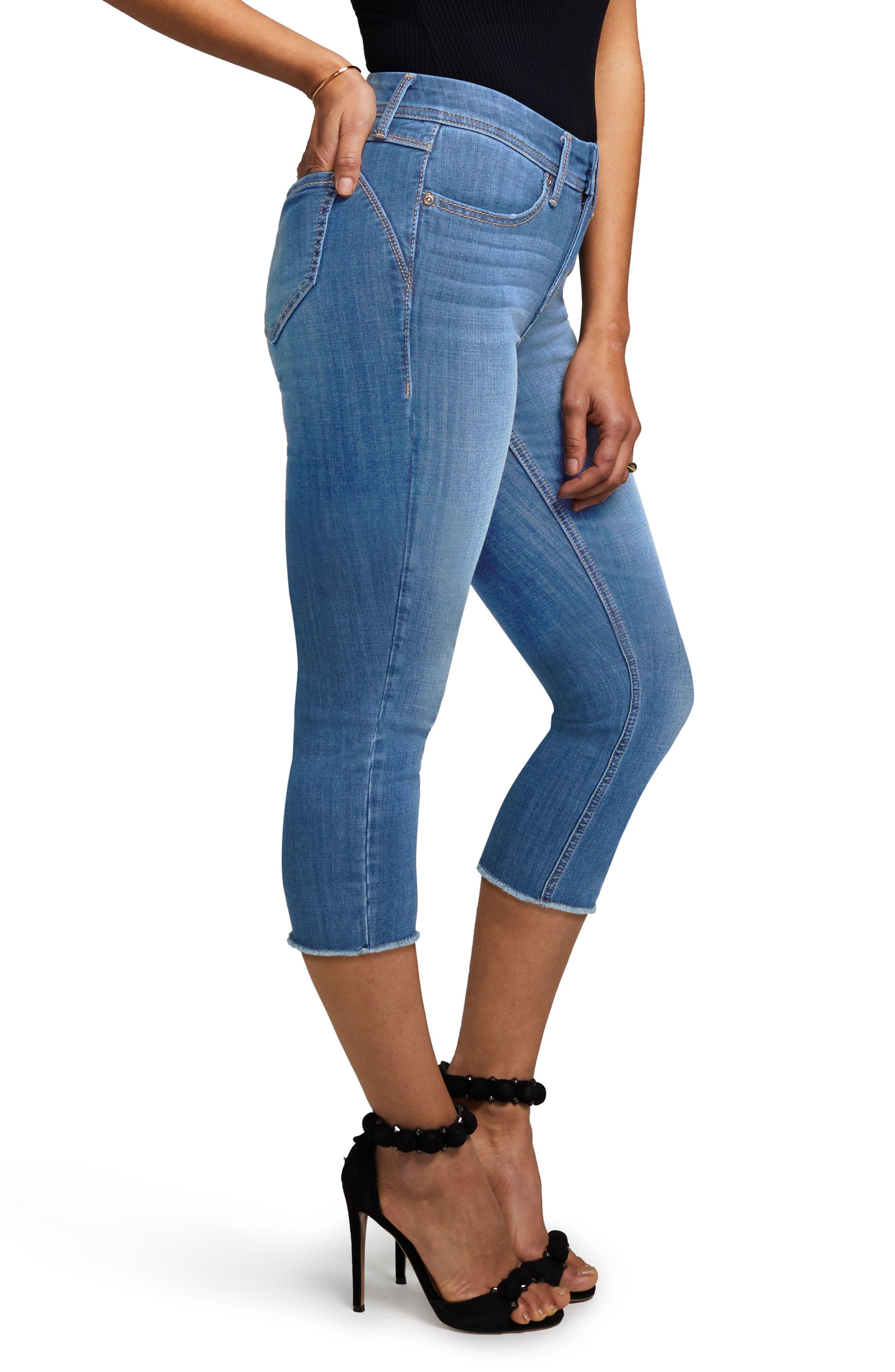 Crop Skinny Jeans,                             Alternate thumbnail 3, color,                             402