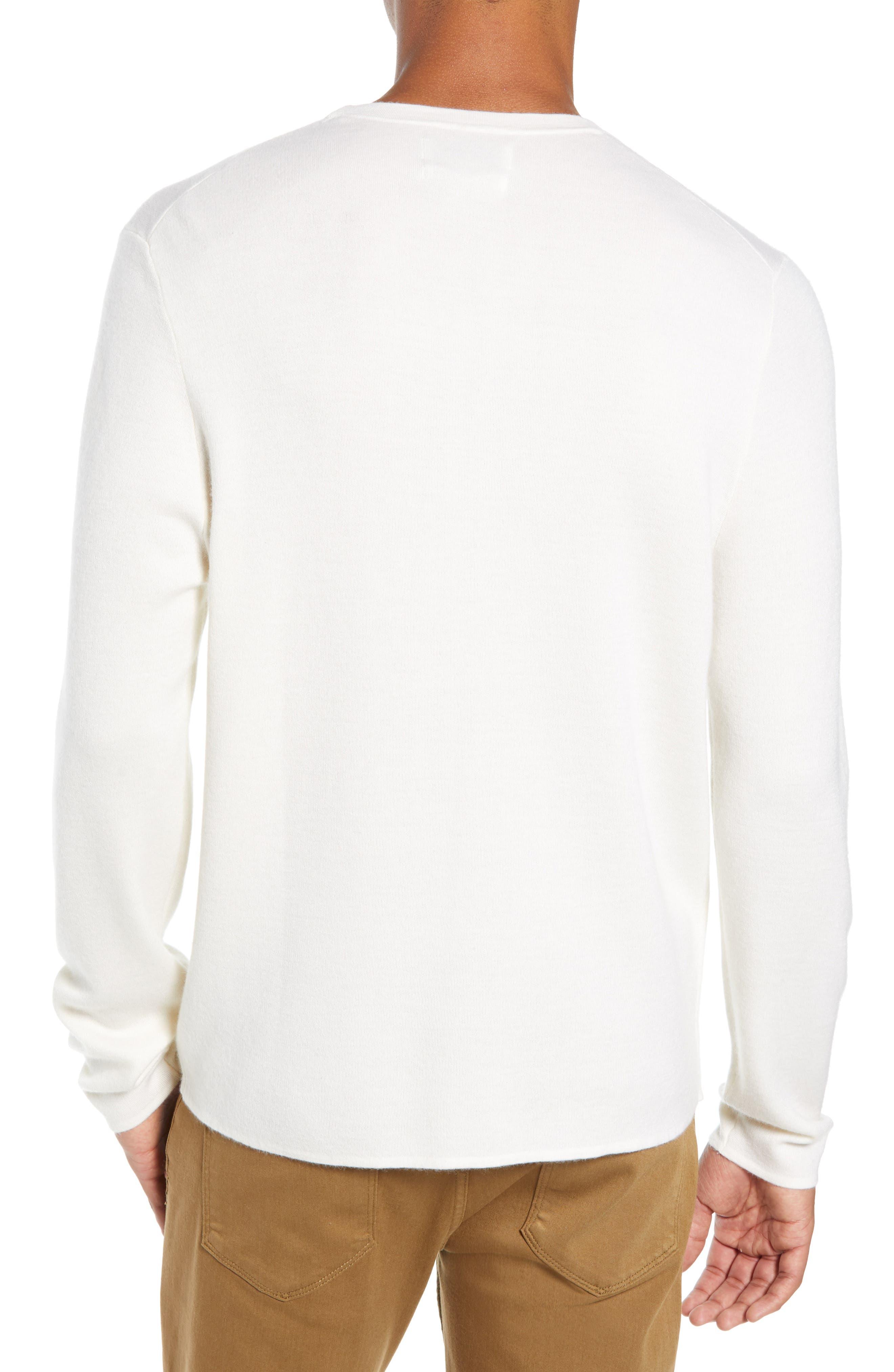 Crewneck Cashmere Sweater,                             Alternate thumbnail 2, color,                             IVORY EGRET