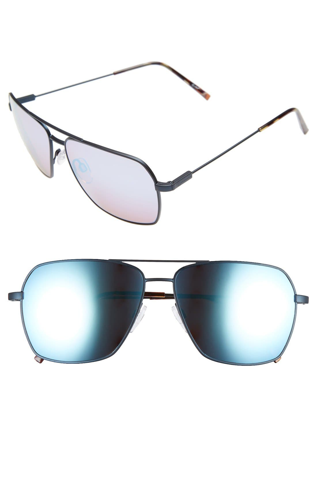 'AV2' 59mm Navigator Sunglasses,                             Main thumbnail 1, color,                             001
