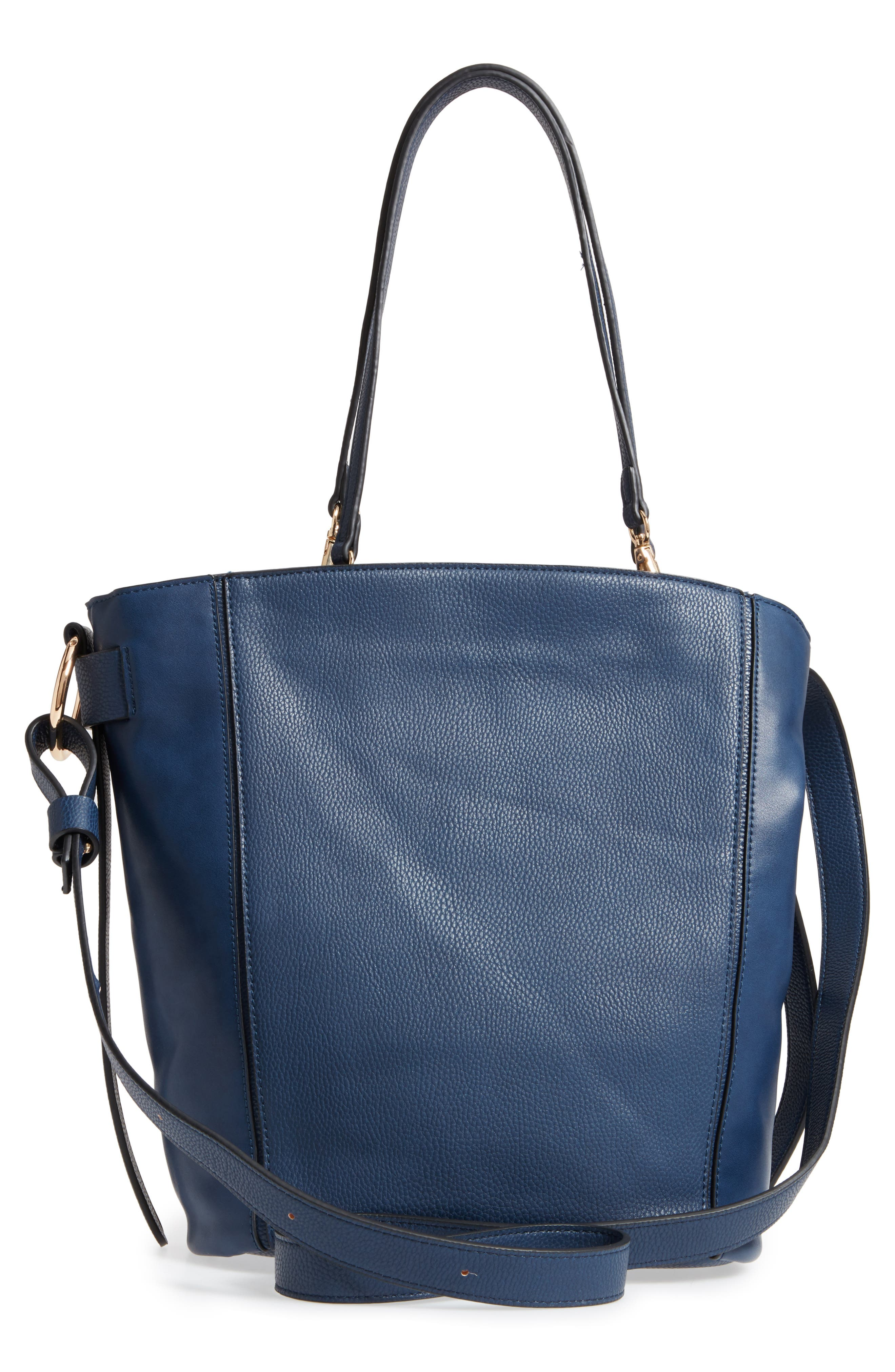 SR Squared by Sondra Roberts Faux Leather Tote,                             Alternate thumbnail 3, color,                             410