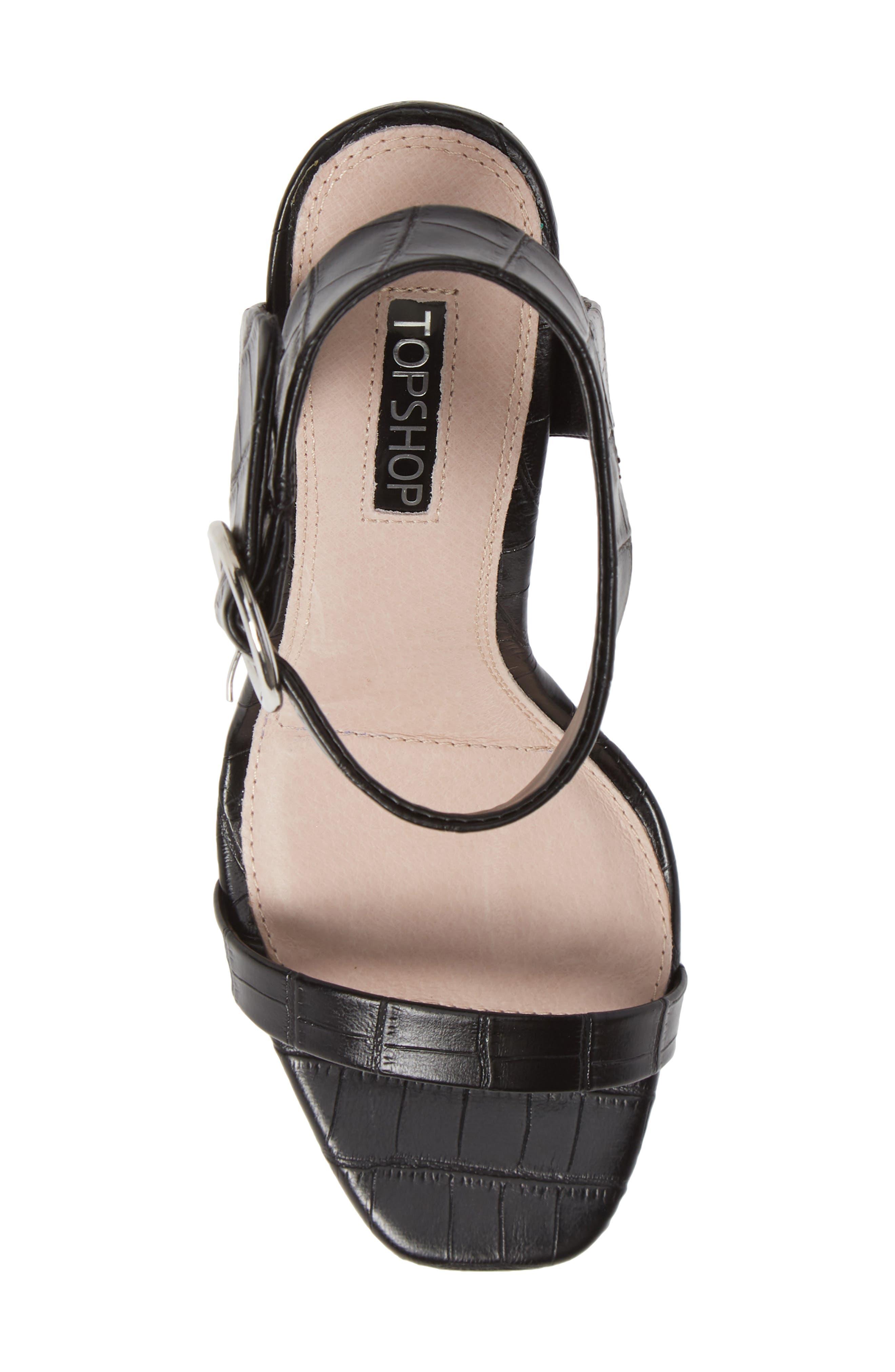 Ria Ankle Cuff Sandal,                             Alternate thumbnail 5, color,                             BLACK