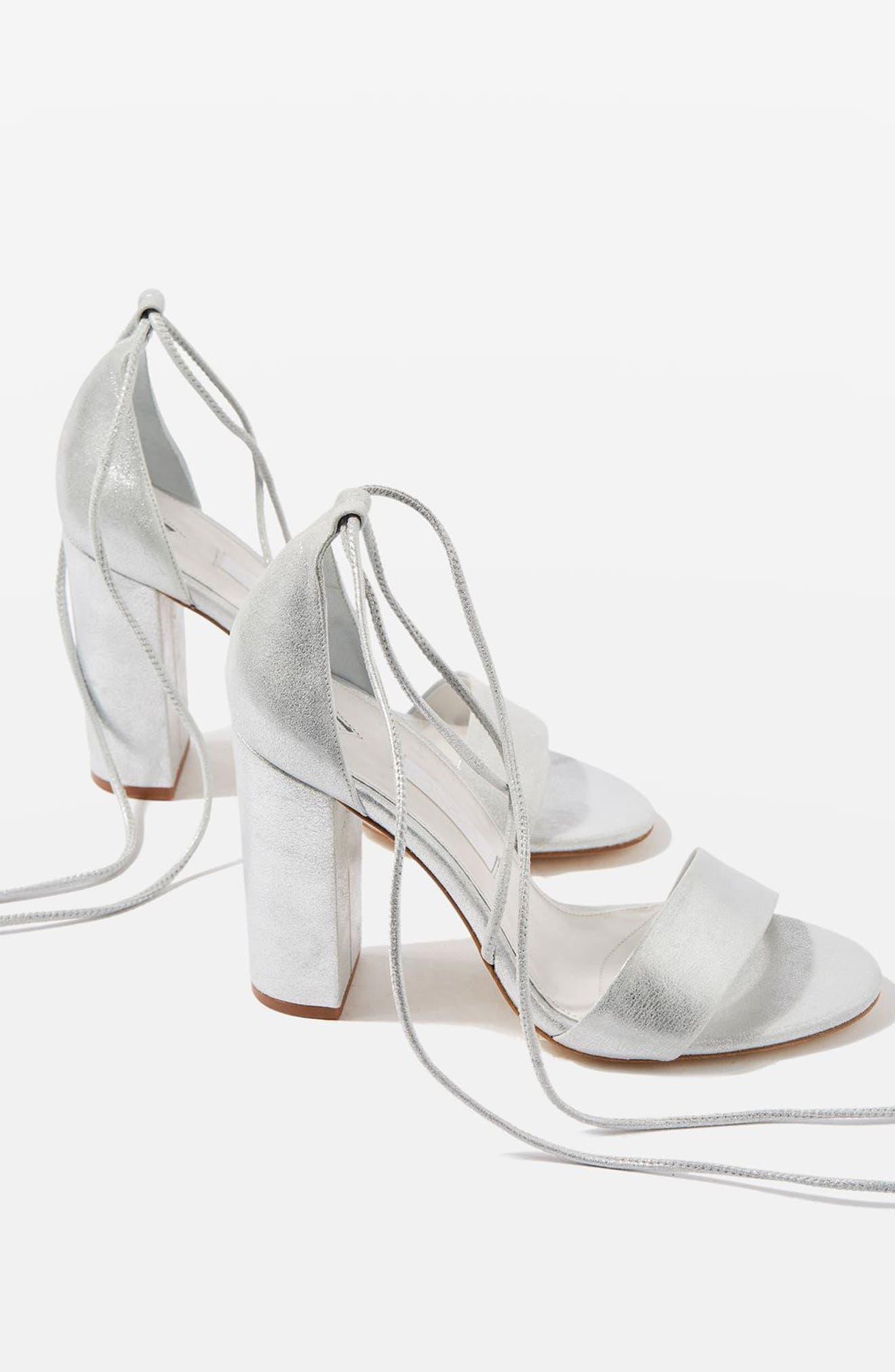 Bride Beatrix Lace-Up Sandals,                             Alternate thumbnail 2, color,                             040