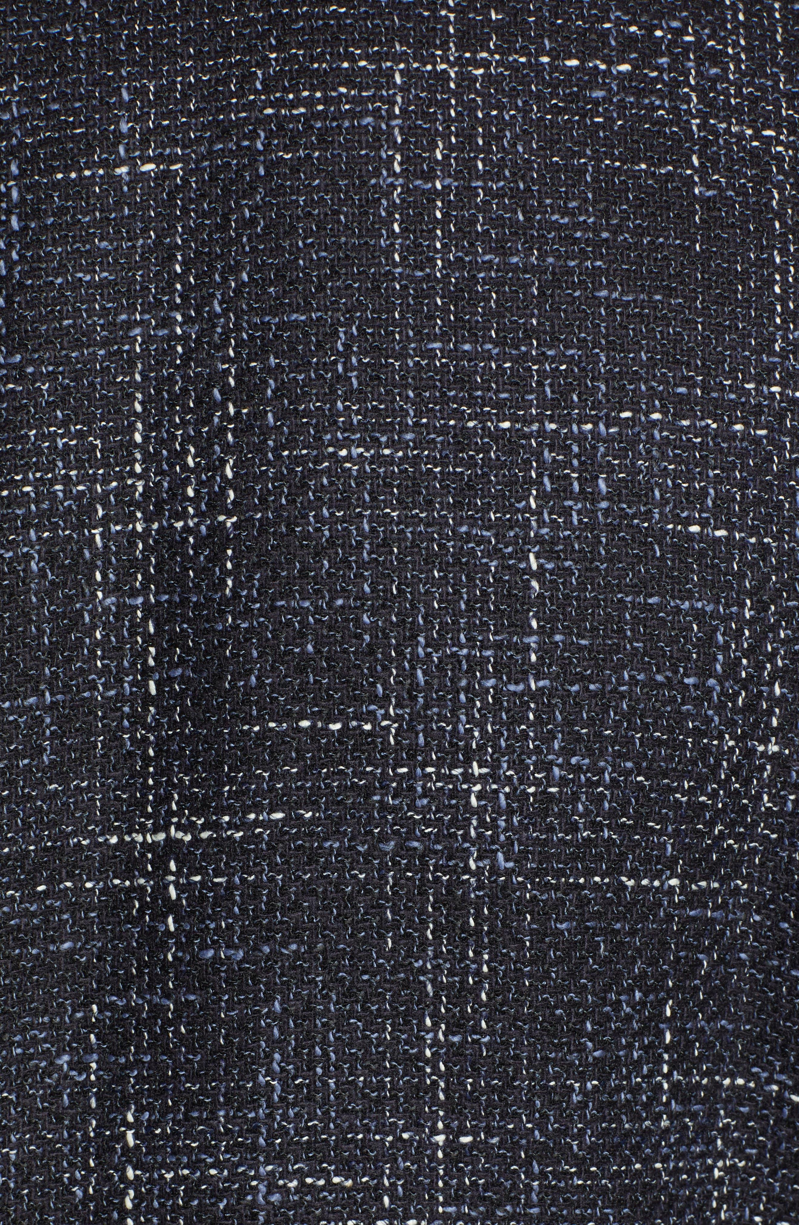 Nold Slim Fit Plaid Wool Blend Sport Coat,                             Alternate thumbnail 6, color,                             OPEN BLUE