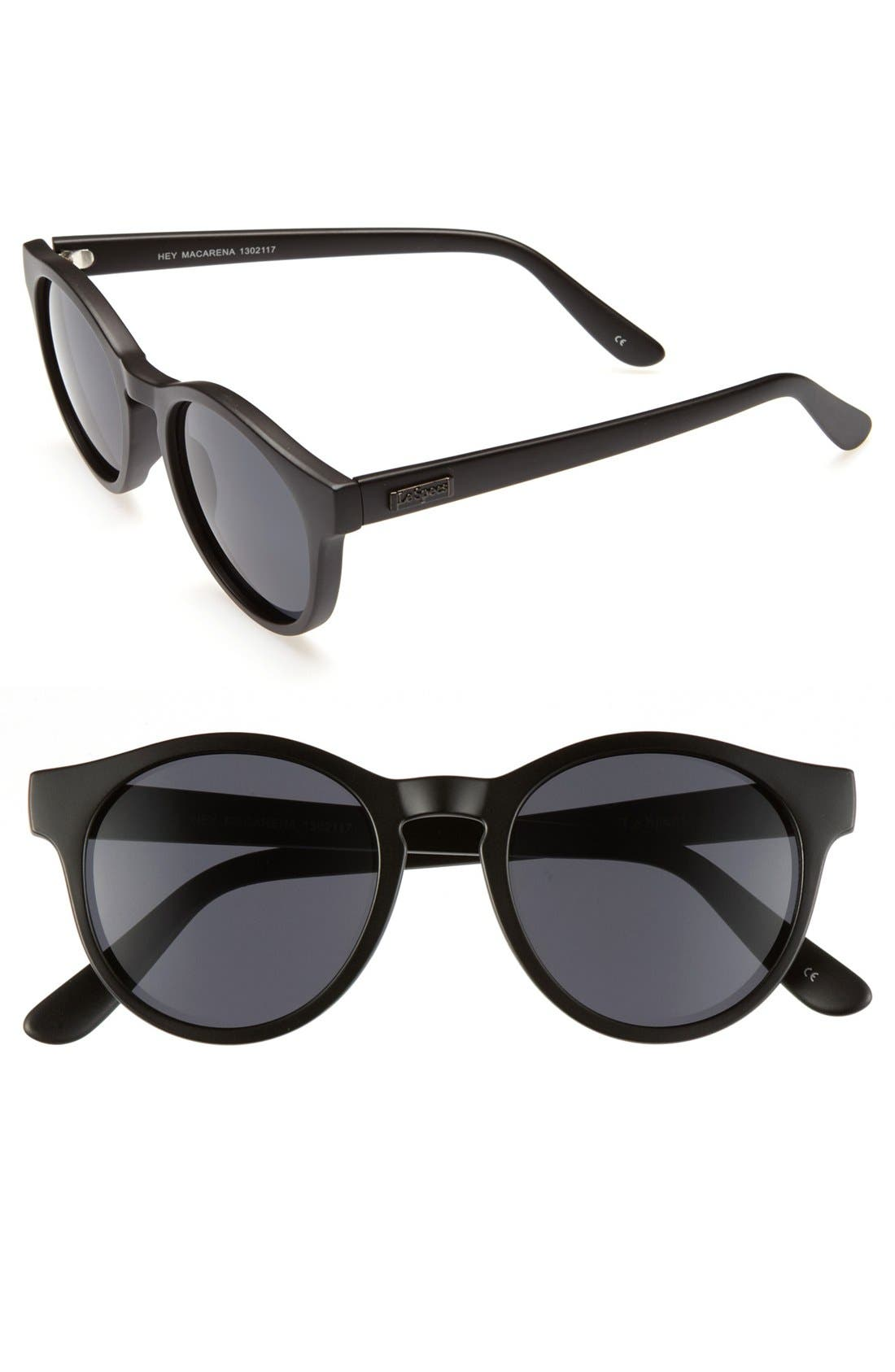 'Hey Macarena' Sunglasses, Main, color, 001