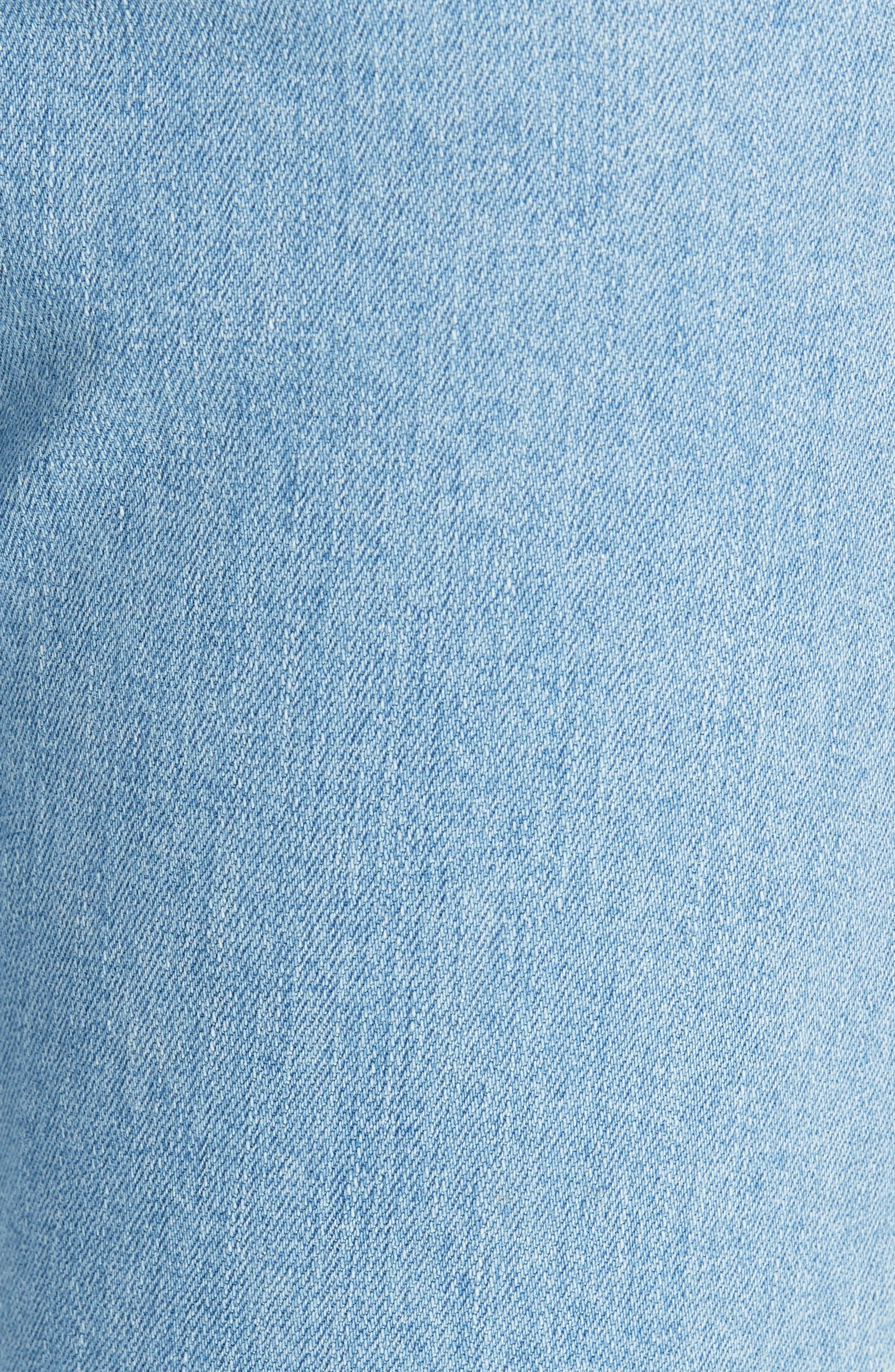 The Dre Ankle Slim Boyfriend Jeans,                             Alternate thumbnail 6, color,                             CLEAN JUDI