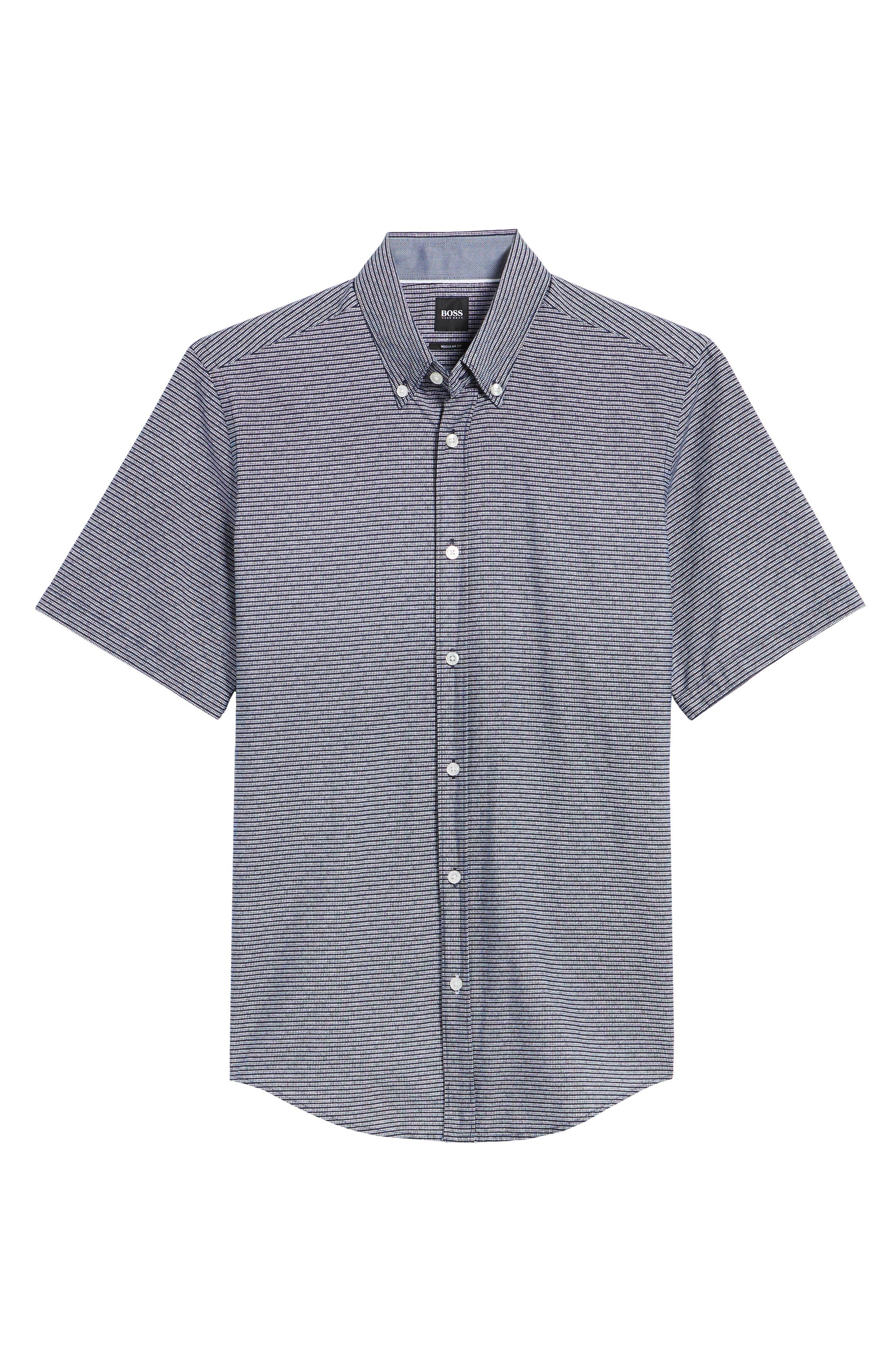 Lodi Stripe Sport Shirt,                             Alternate thumbnail 6, color,                             BLUE