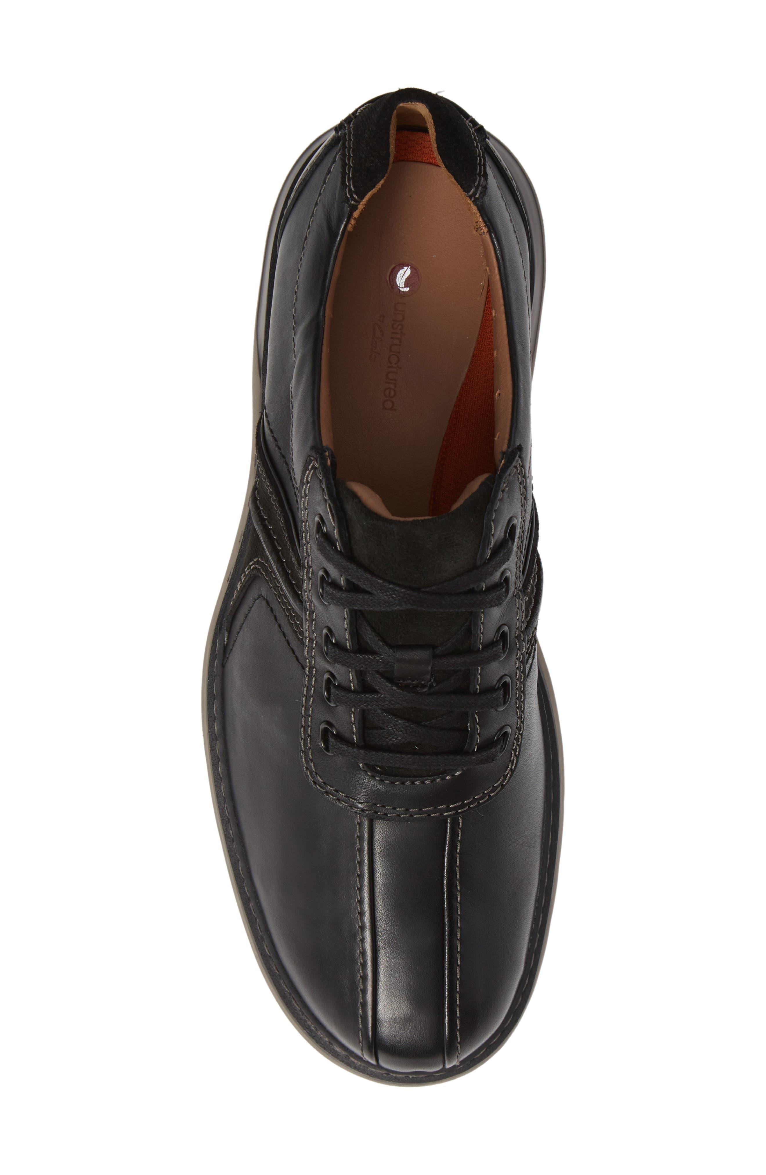 Un Ramble Go Sneaker,                             Alternate thumbnail 5, color,                             BLACK LEATHER