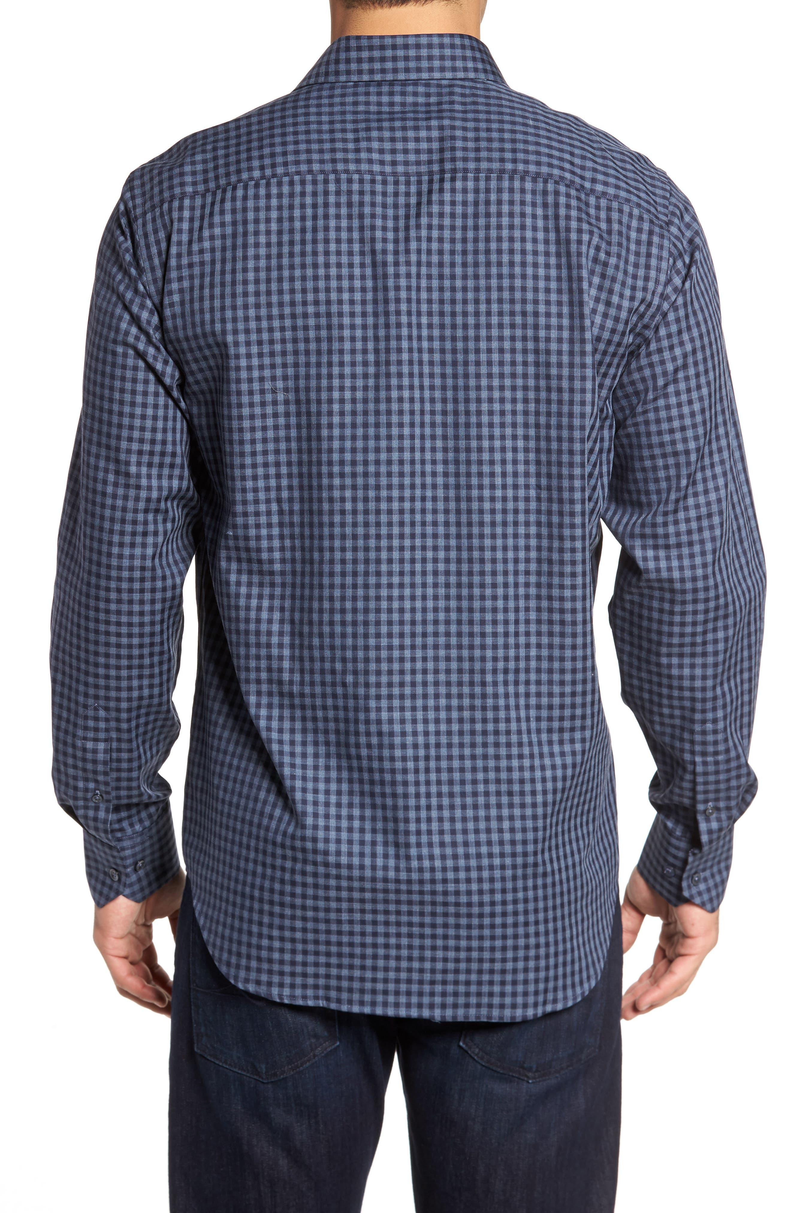 Classic Fit Herringbone Gingham Sport Shirt,                             Alternate thumbnail 2, color,                             030