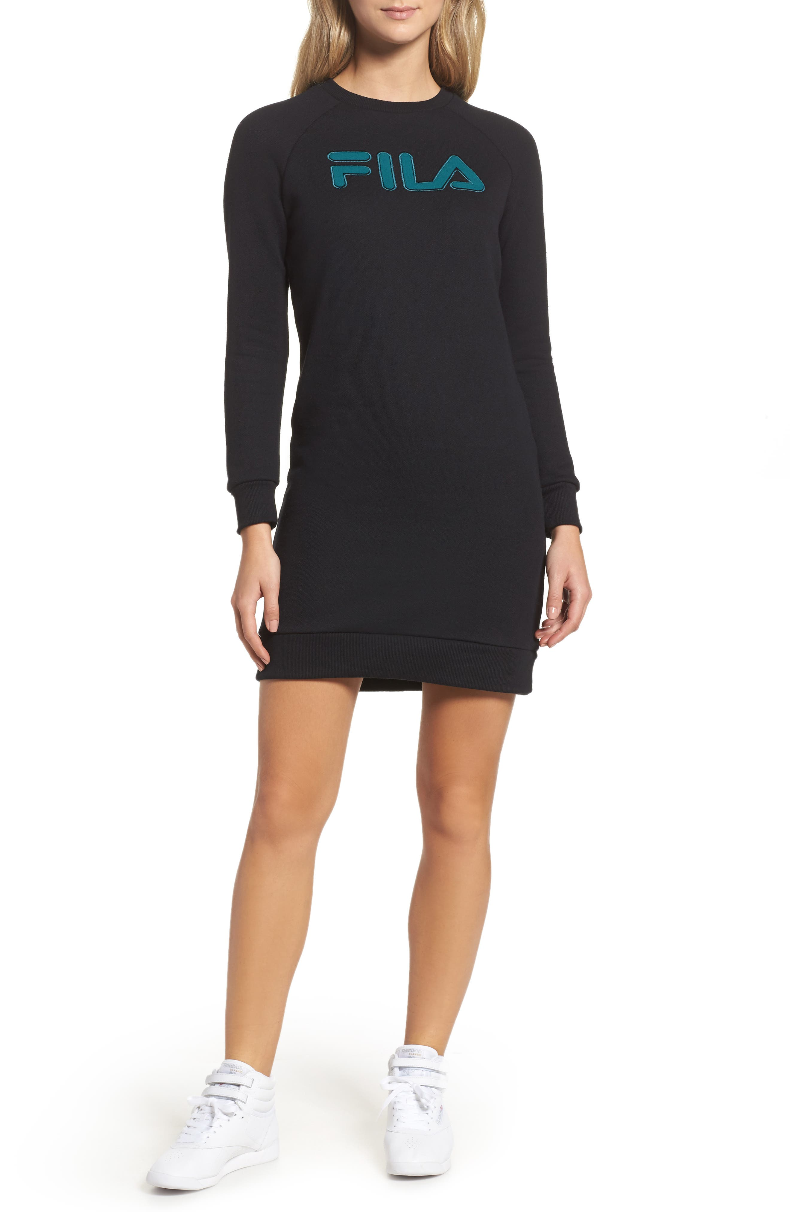 Courtney Sweatshirt Dress,                             Main thumbnail 1, color,                             001