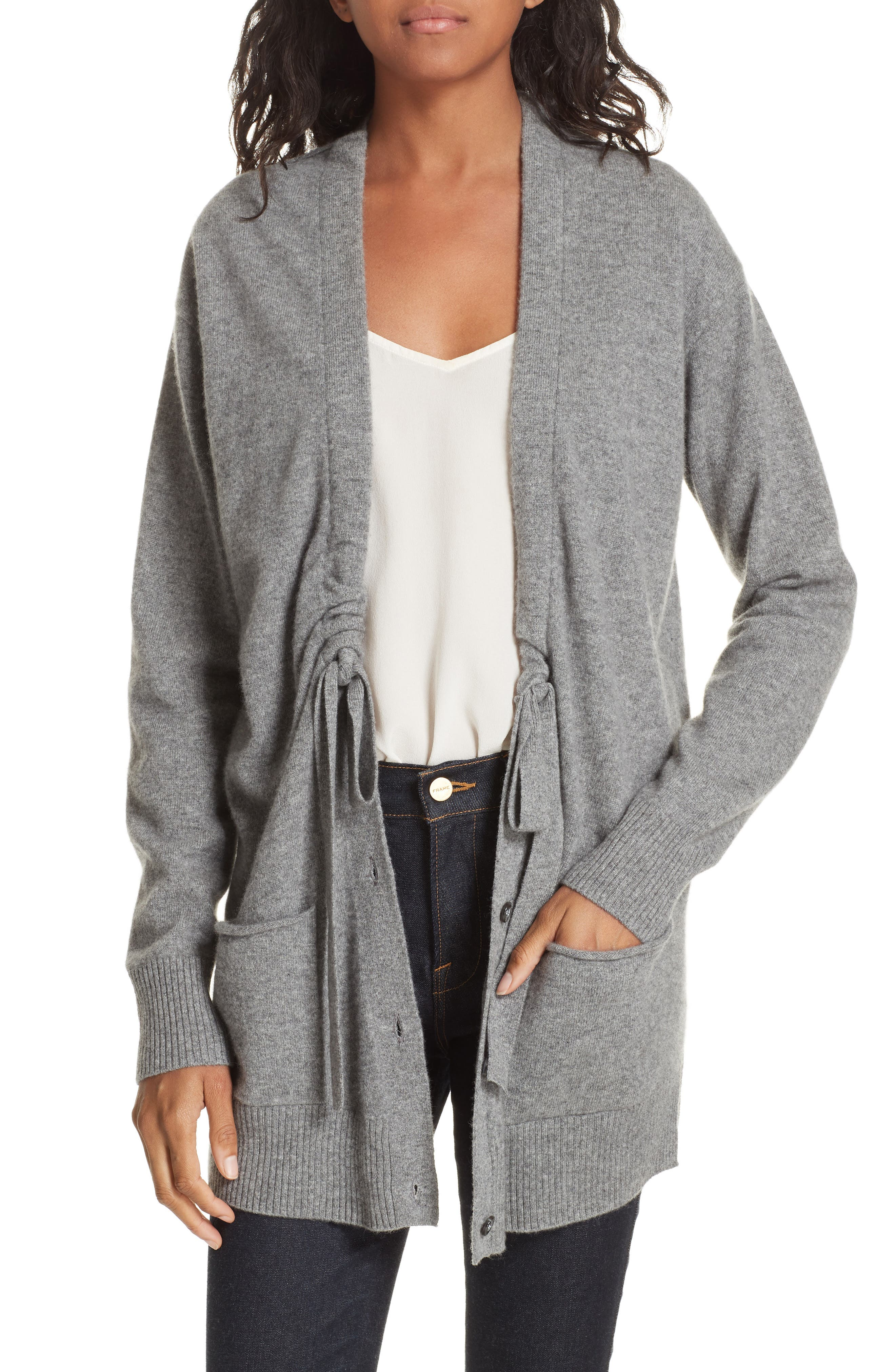 Bray Cashmere Cardigan,                             Main thumbnail 1, color,                             HEATHER GREY