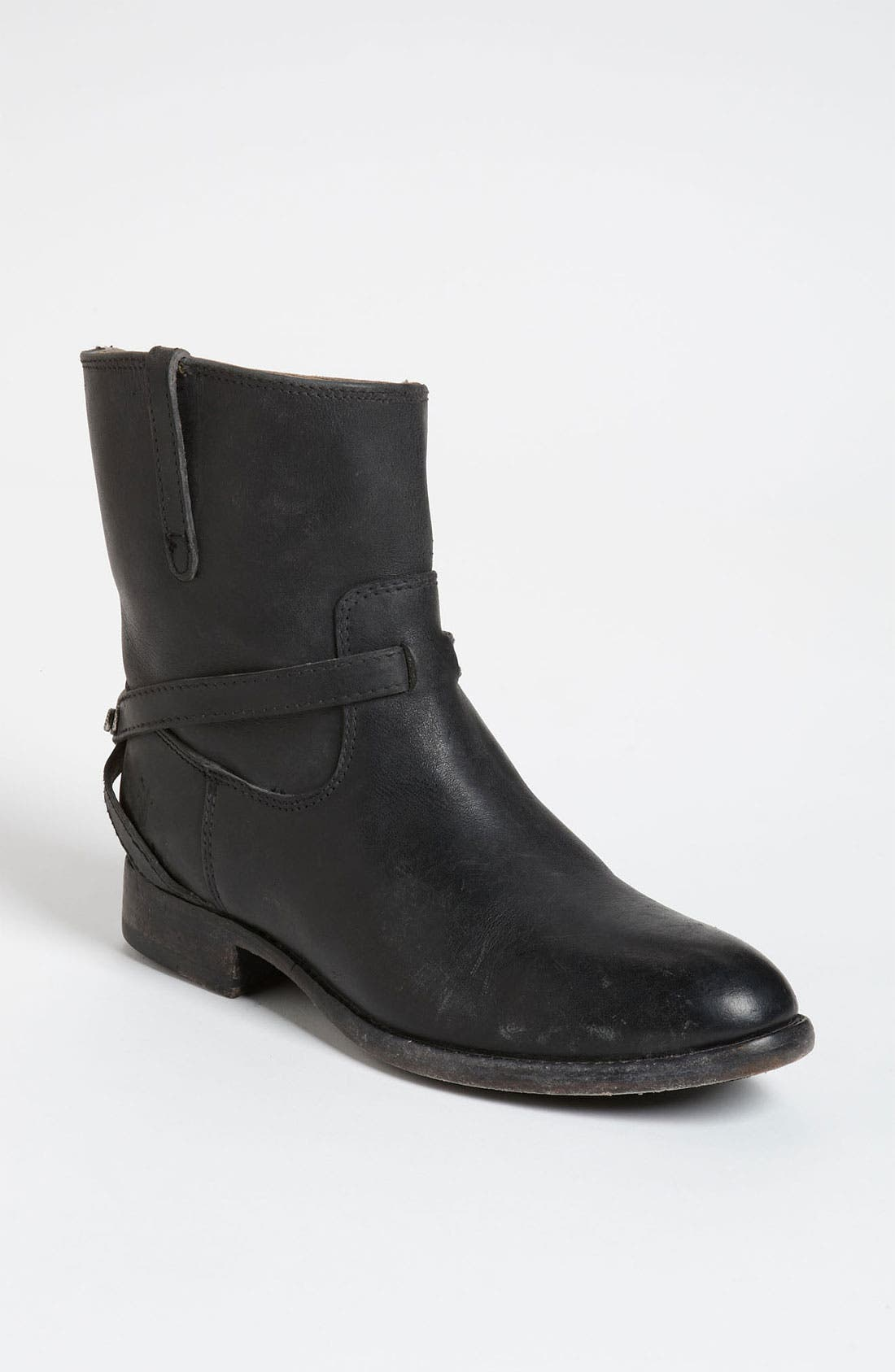 'Lindsay Plate' Short Boot,                             Main thumbnail 1, color,                             001