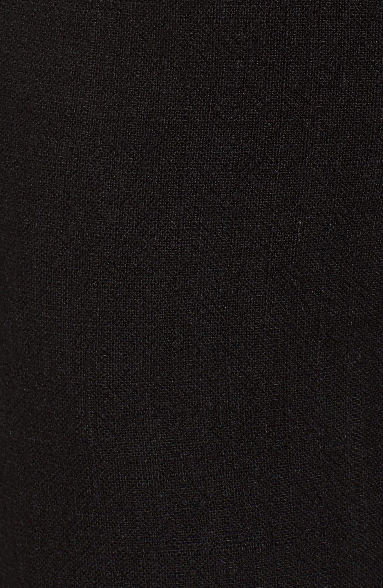 Fringe Trim Wide Leg Pants,                             Alternate thumbnail 5, color,                             001