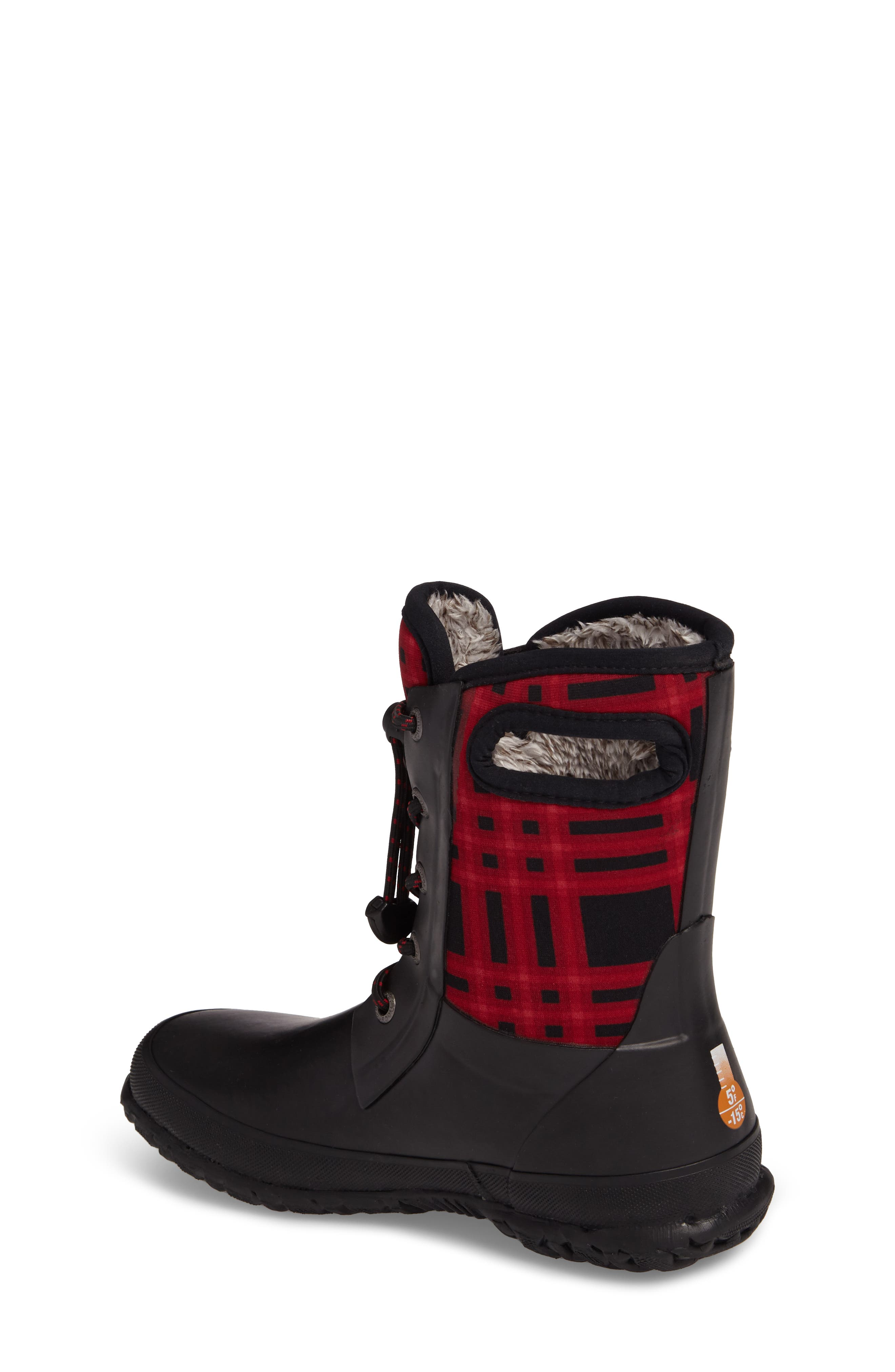 Amanda Plaid Insulated Waterproof Boot,                             Alternate thumbnail 2, color,                             009