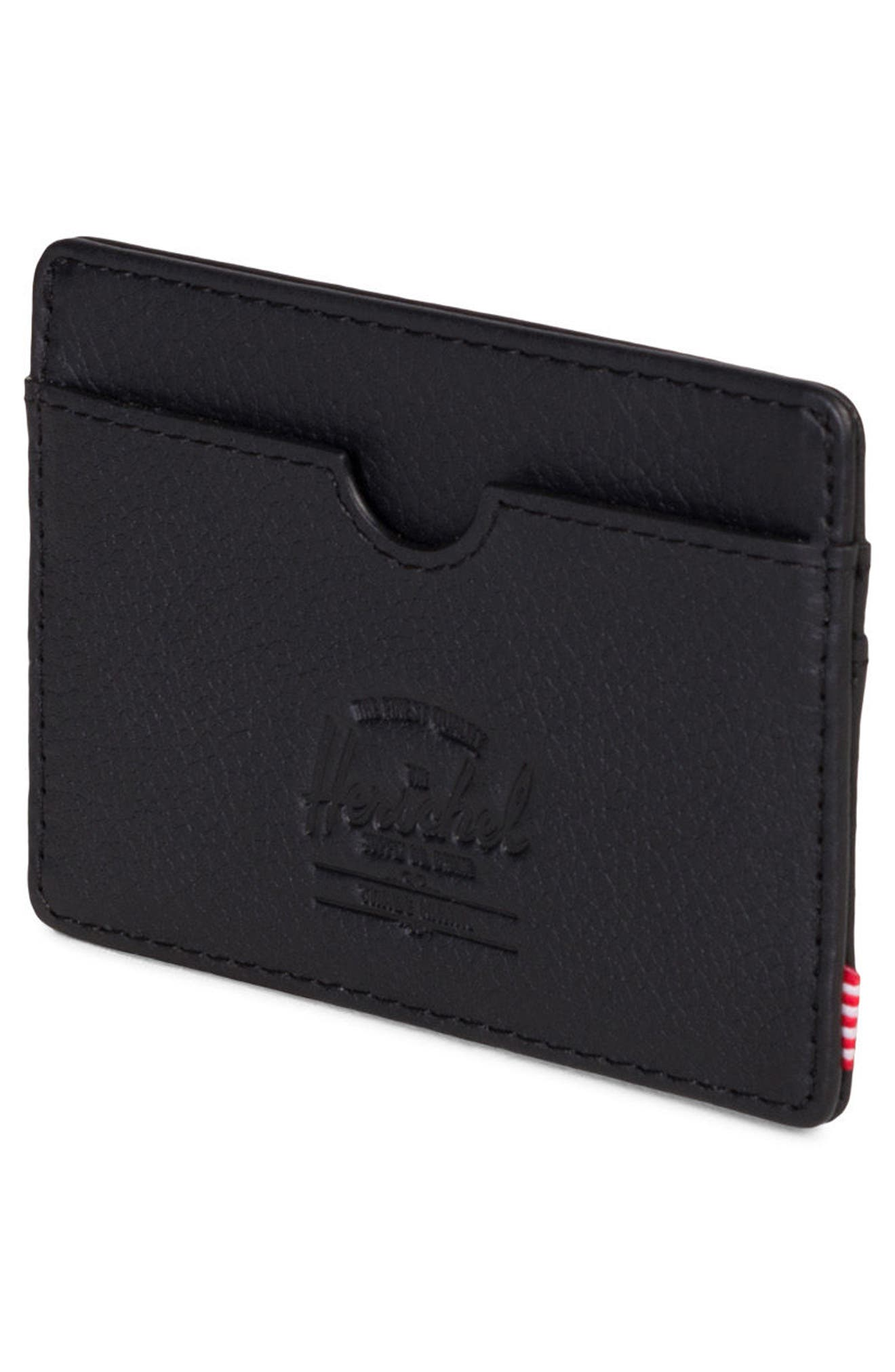 Charlie Leather Card Case,                             Alternate thumbnail 4, color,                             005