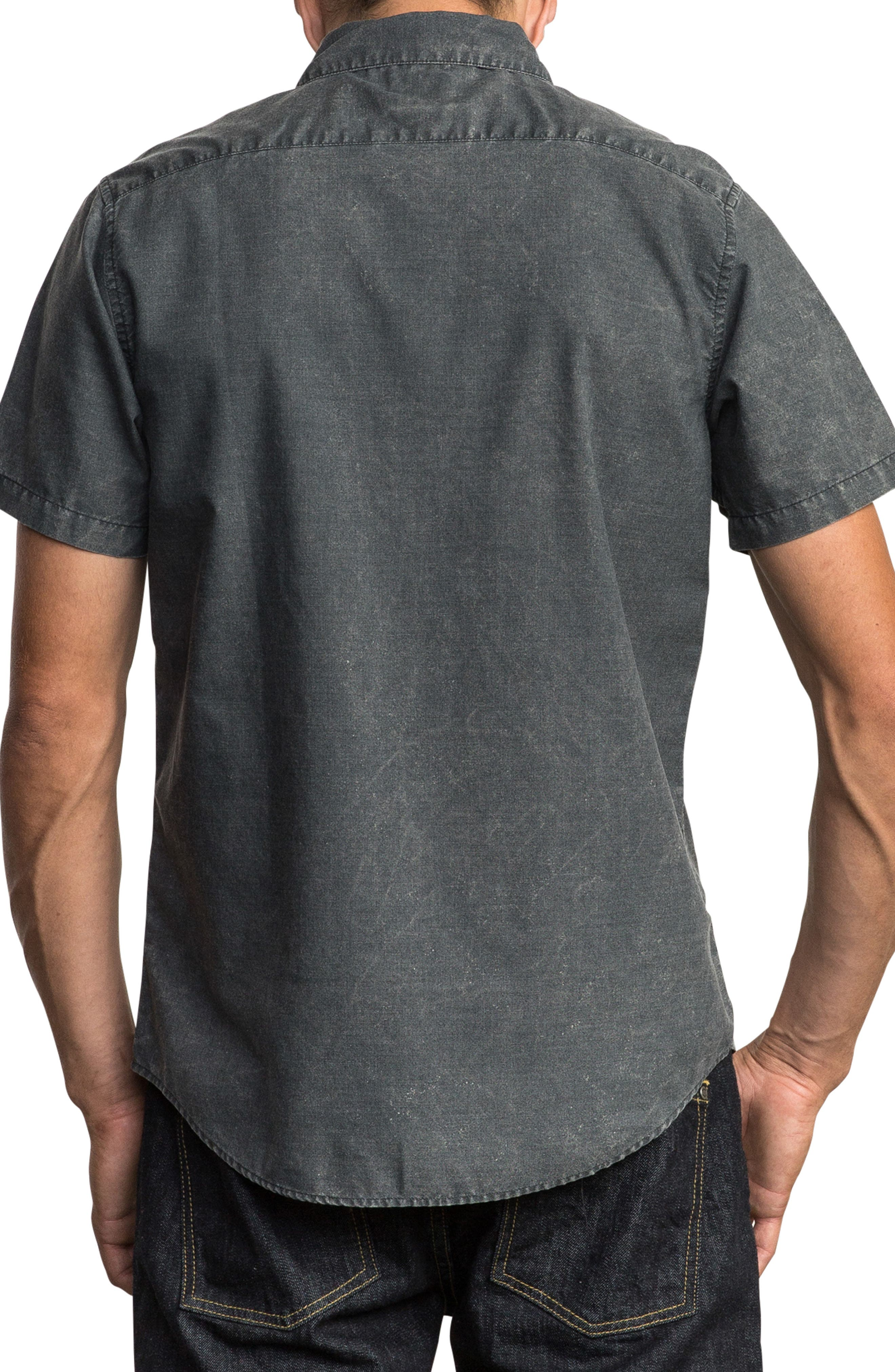 That'll Do Chambray Woven Shirt,                             Alternate thumbnail 2, color,                             PIRATE BLACK