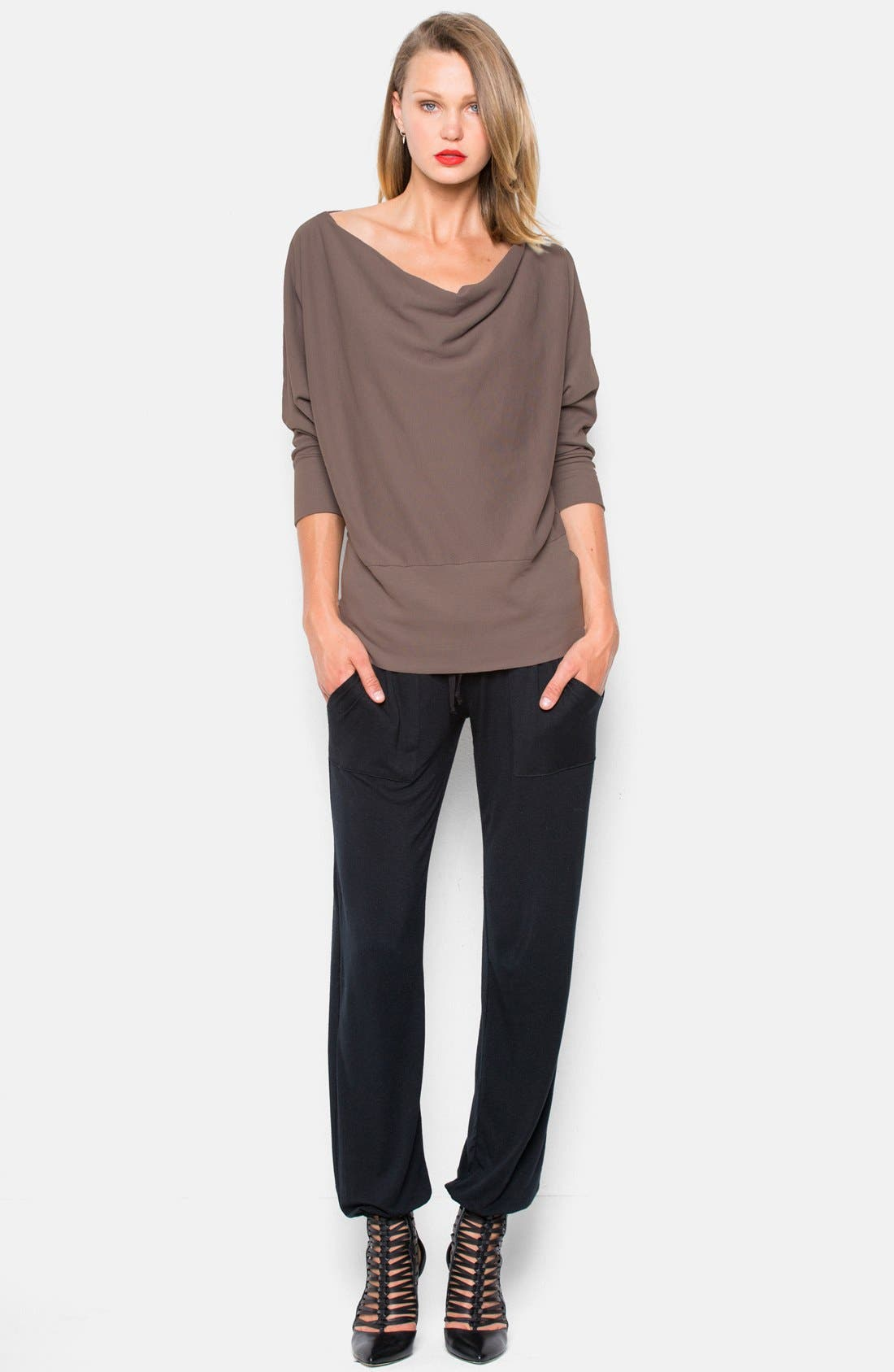 'Aidan' Drape Neck Thermal Top,                             Alternate thumbnail 9, color,