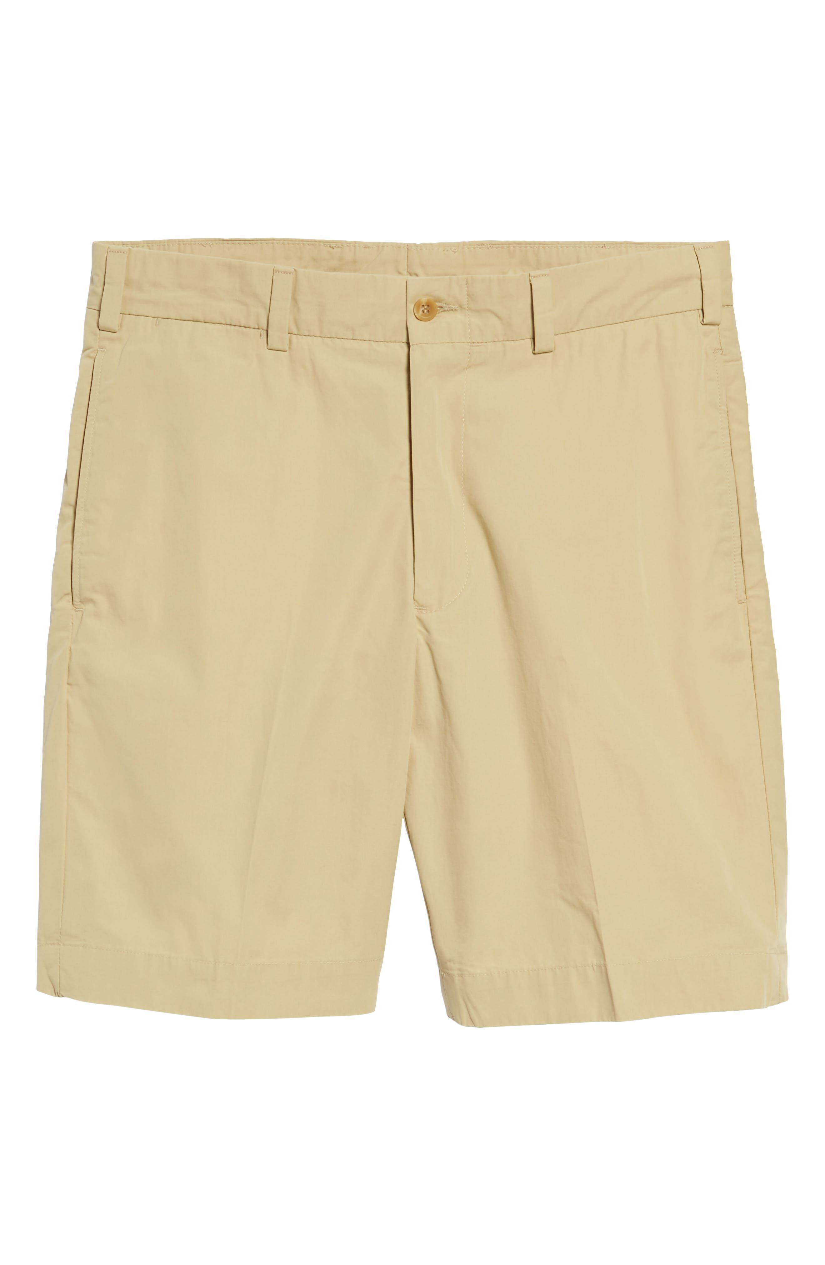 M2 Classic Fit Flat Front Tropical Cotton Poplin Shorts,                             Alternate thumbnail 6, color,                             KHAKI