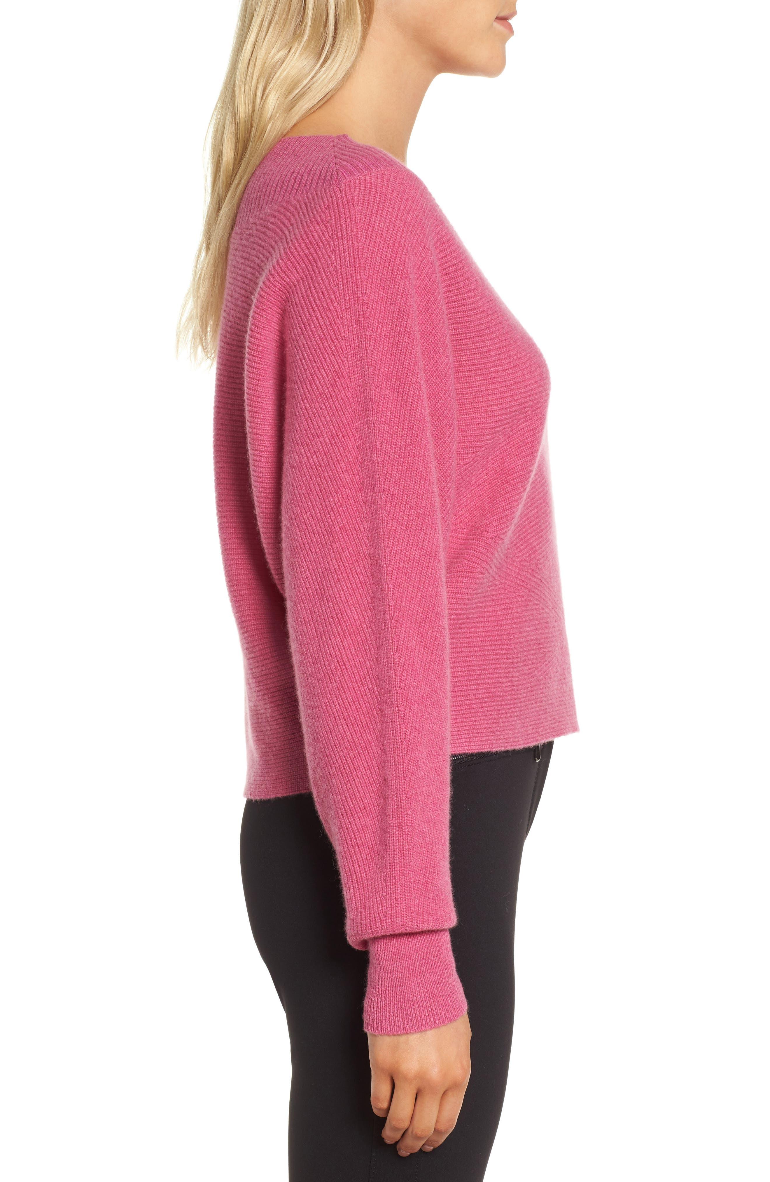 Dolman Sleeve Cashmere Sweater,                             Alternate thumbnail 6, color,
