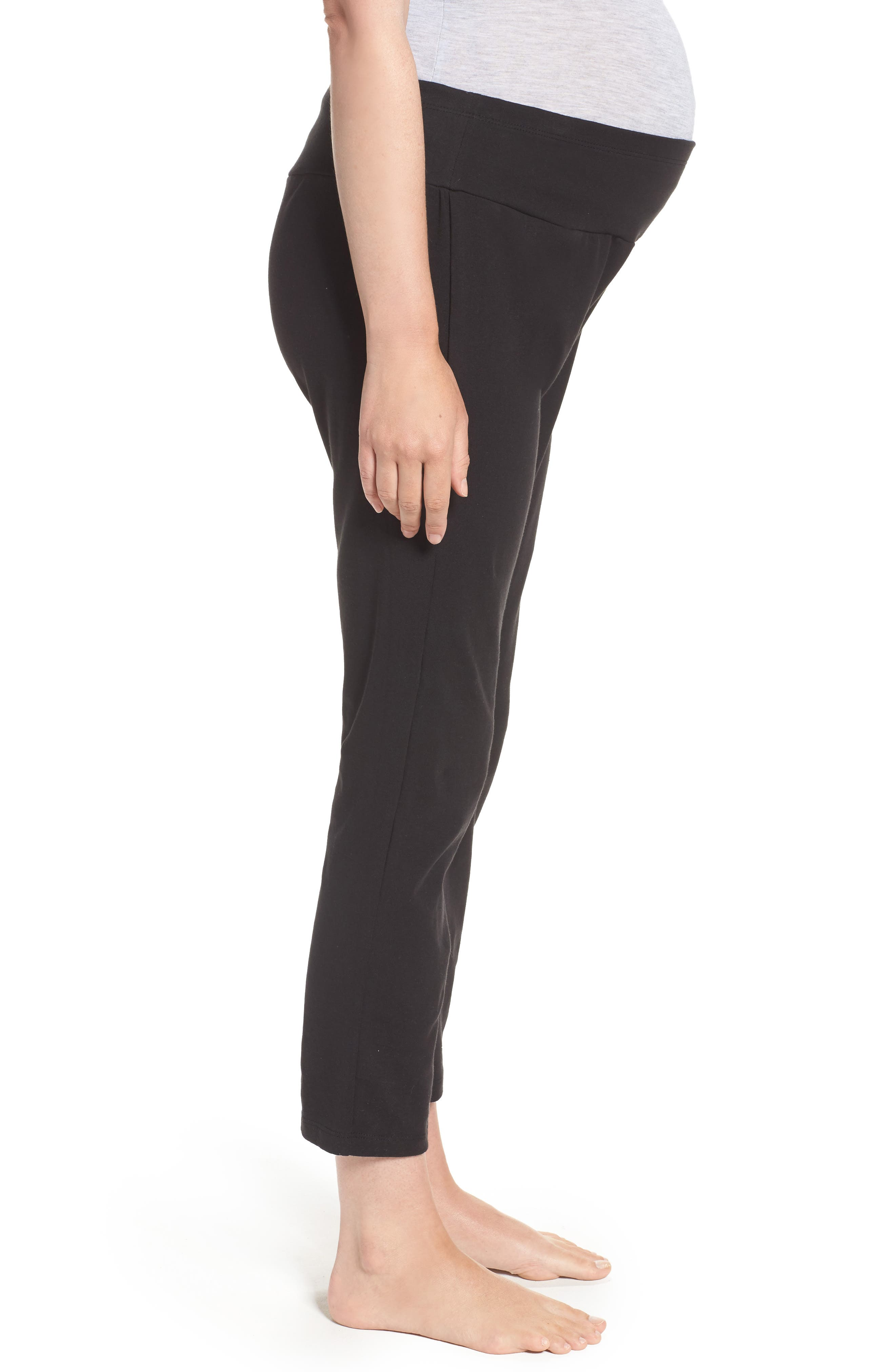 New Mama Relaxed Fit Pants,                             Alternate thumbnail 3, color,                             001