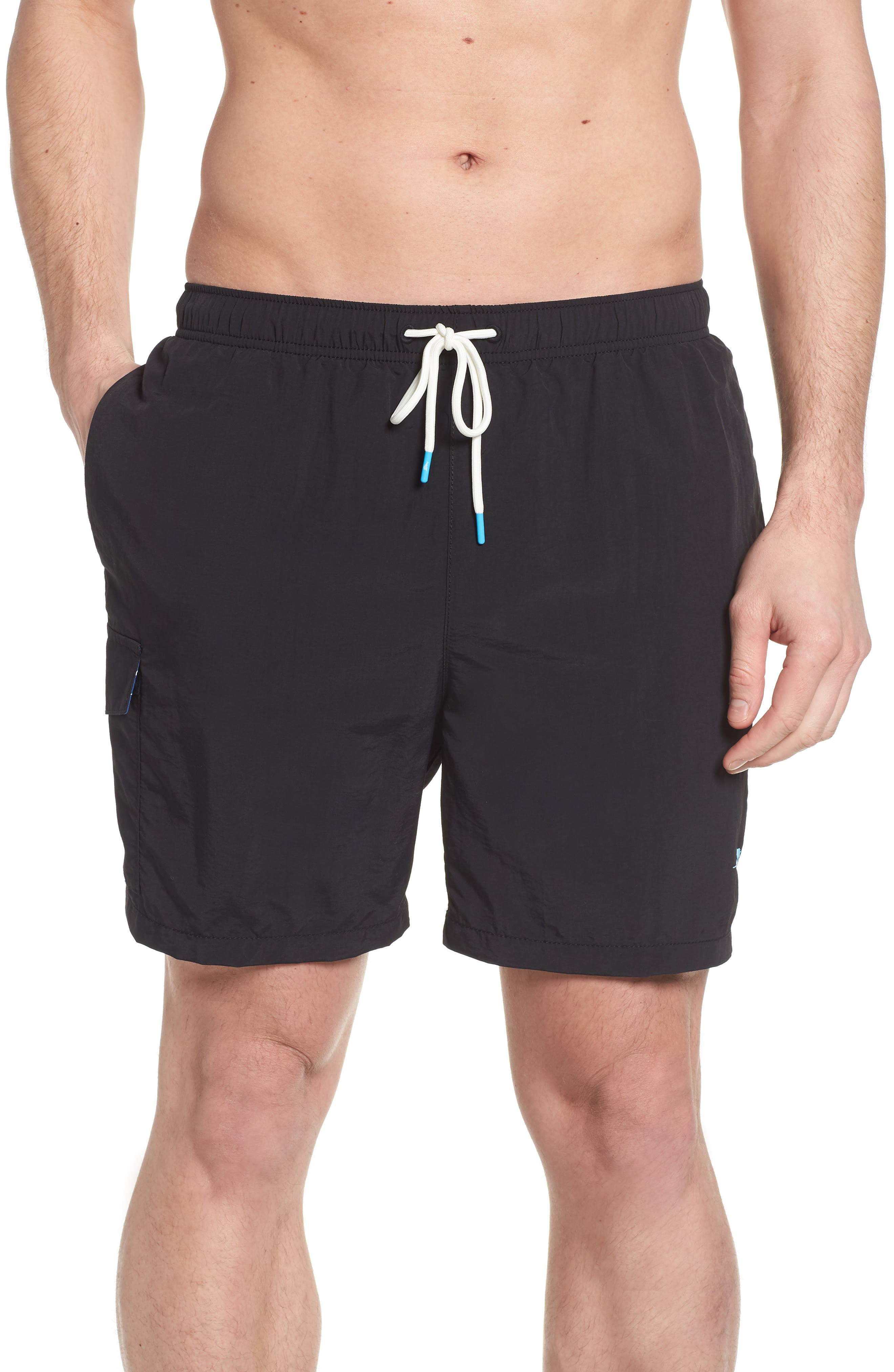 Naples Coast Swim Trunks,                         Main,                         color, BLACK