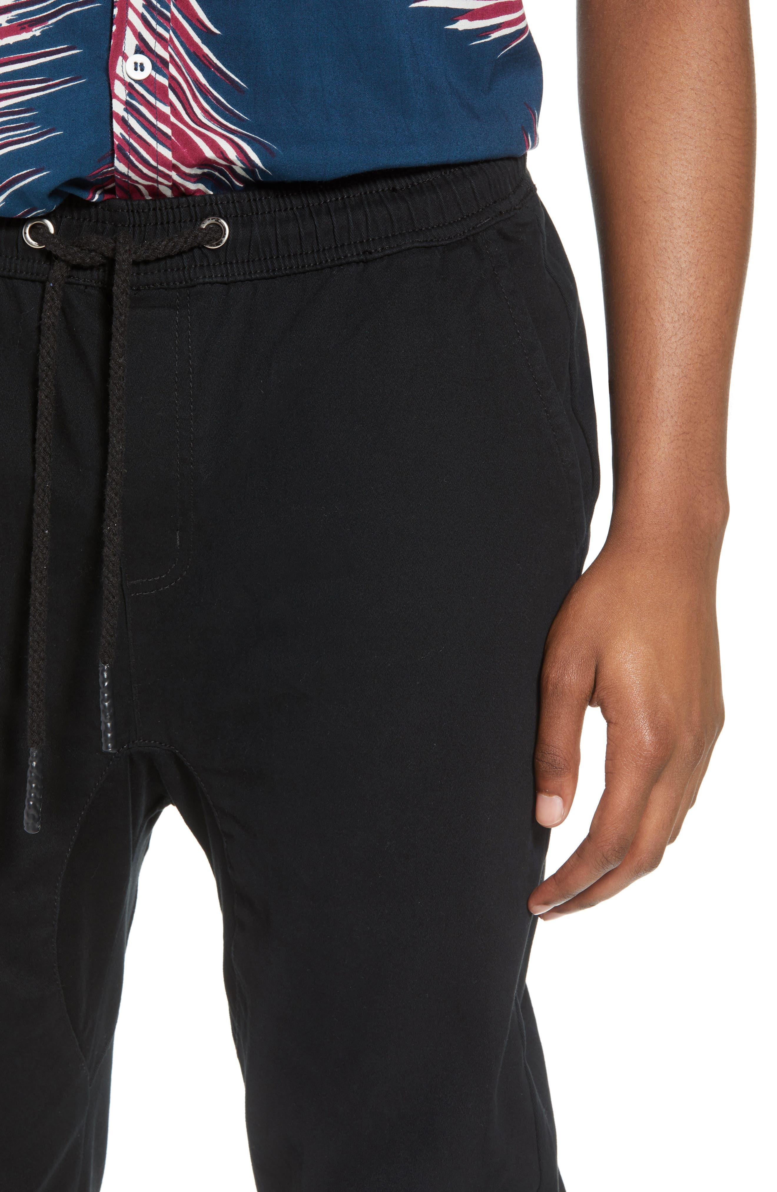 Vacation Slim Fit Crop Pants,                             Alternate thumbnail 4, color,                             BLACK