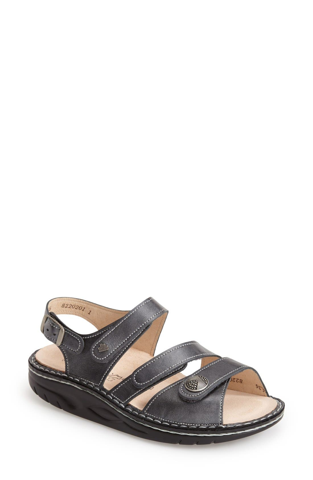 'Tiberias' Leather Sandal,                             Main thumbnail 1, color,                             020