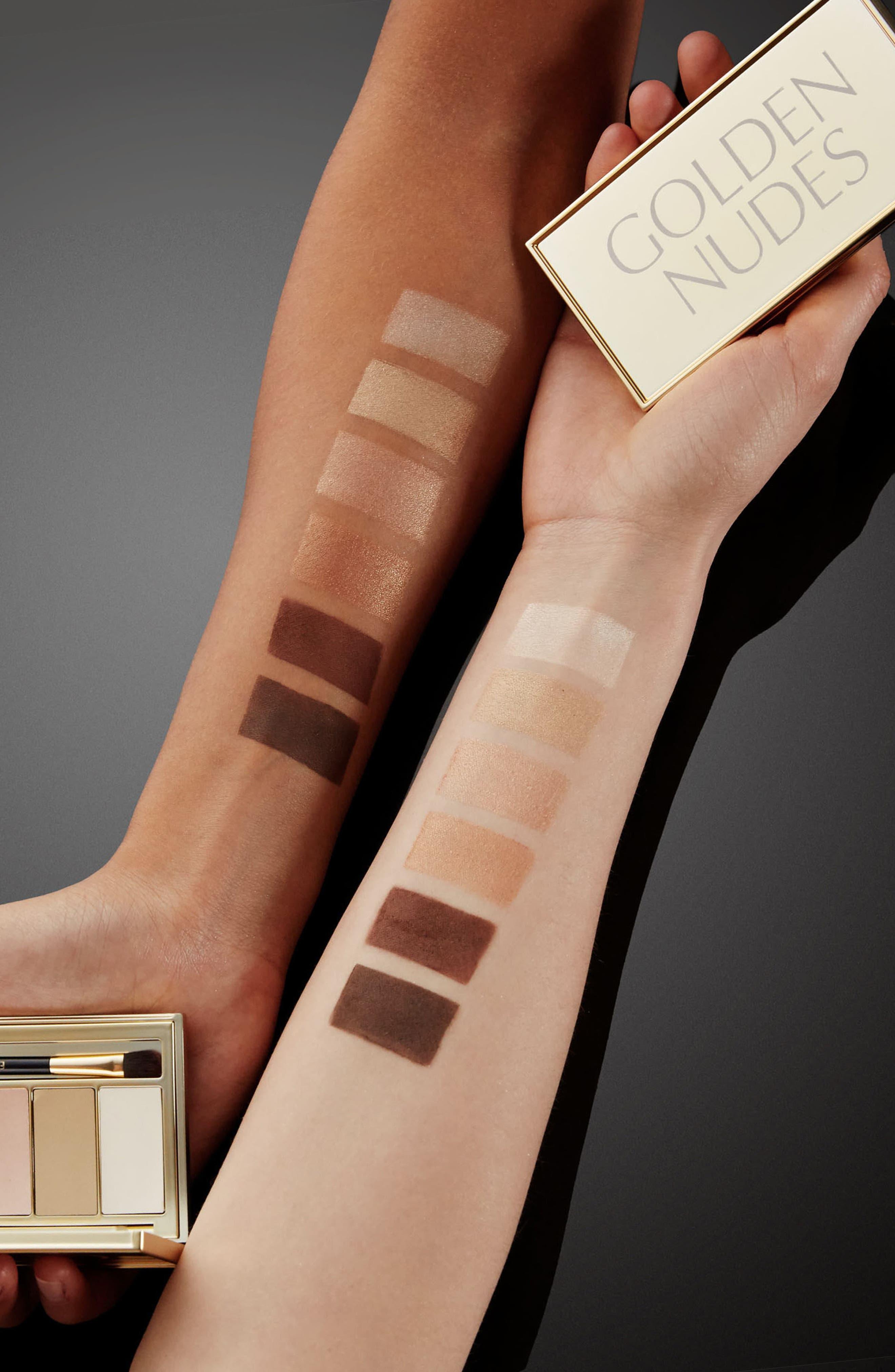 Golden Nudes Eyeshadow Palette,                             Alternate thumbnail 3, color,                             000