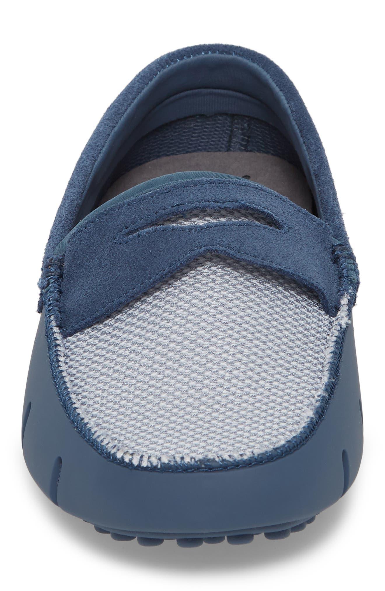 Driving Shoe,                             Alternate thumbnail 4, color,                             SLATE/ WHITE FABRIC