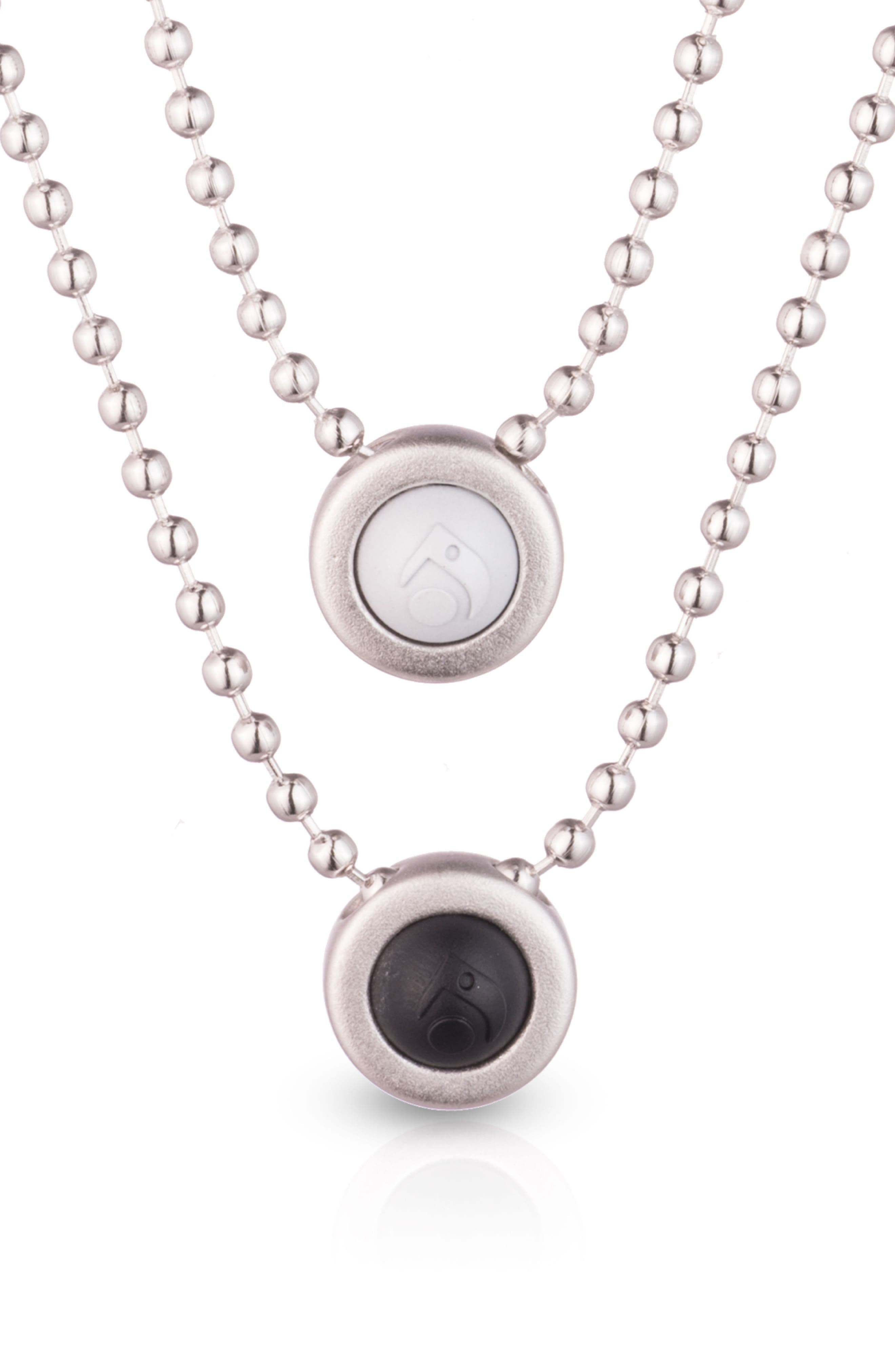 Double Ball Chain Pendant Necklace,                             Alternate thumbnail 5, color,