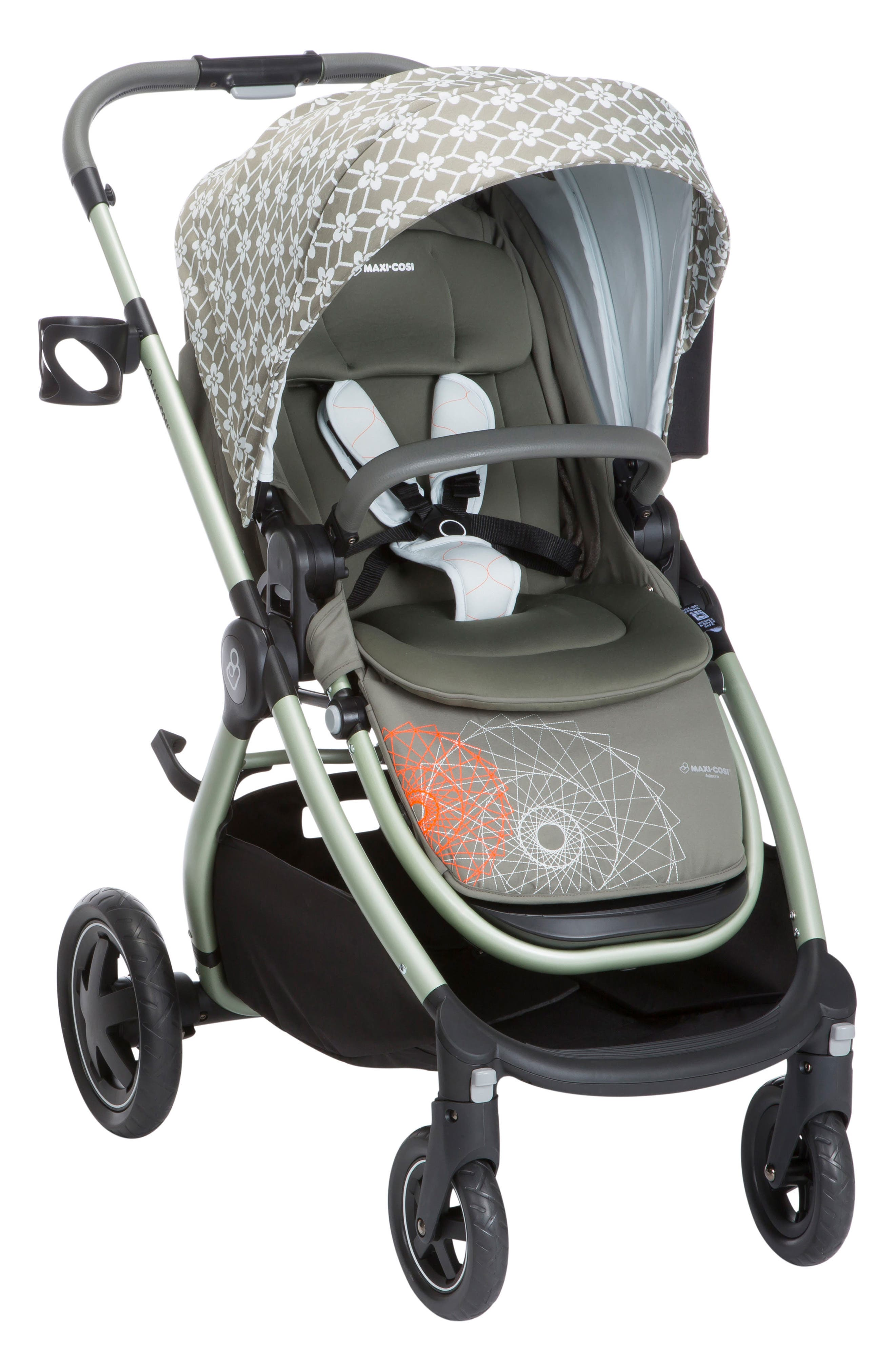 Adorra Floral Stroller,                             Main thumbnail 1, color,                             GRAPHIC FLOWER