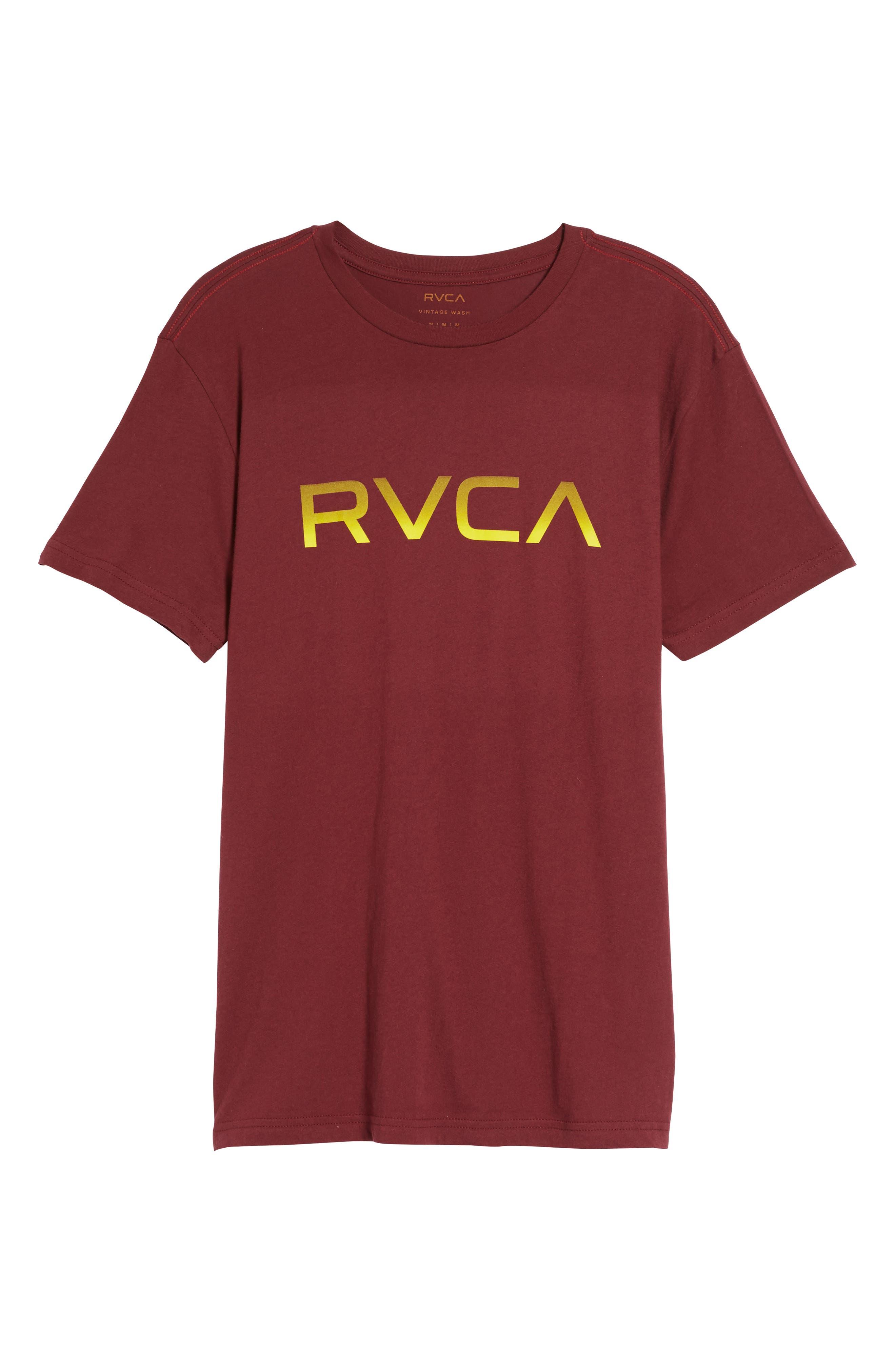 Big RVCA Gradient Logo T-Shirt,                             Alternate thumbnail 12, color,