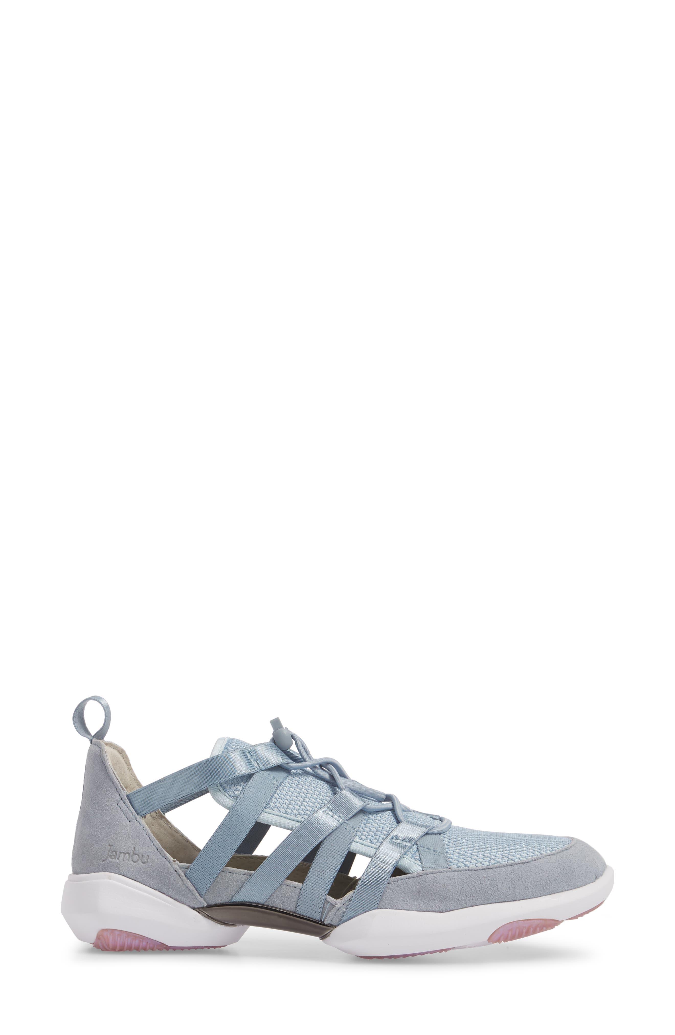 Azalea Sneaker,                             Alternate thumbnail 3, color,                             BLUE LEATHER